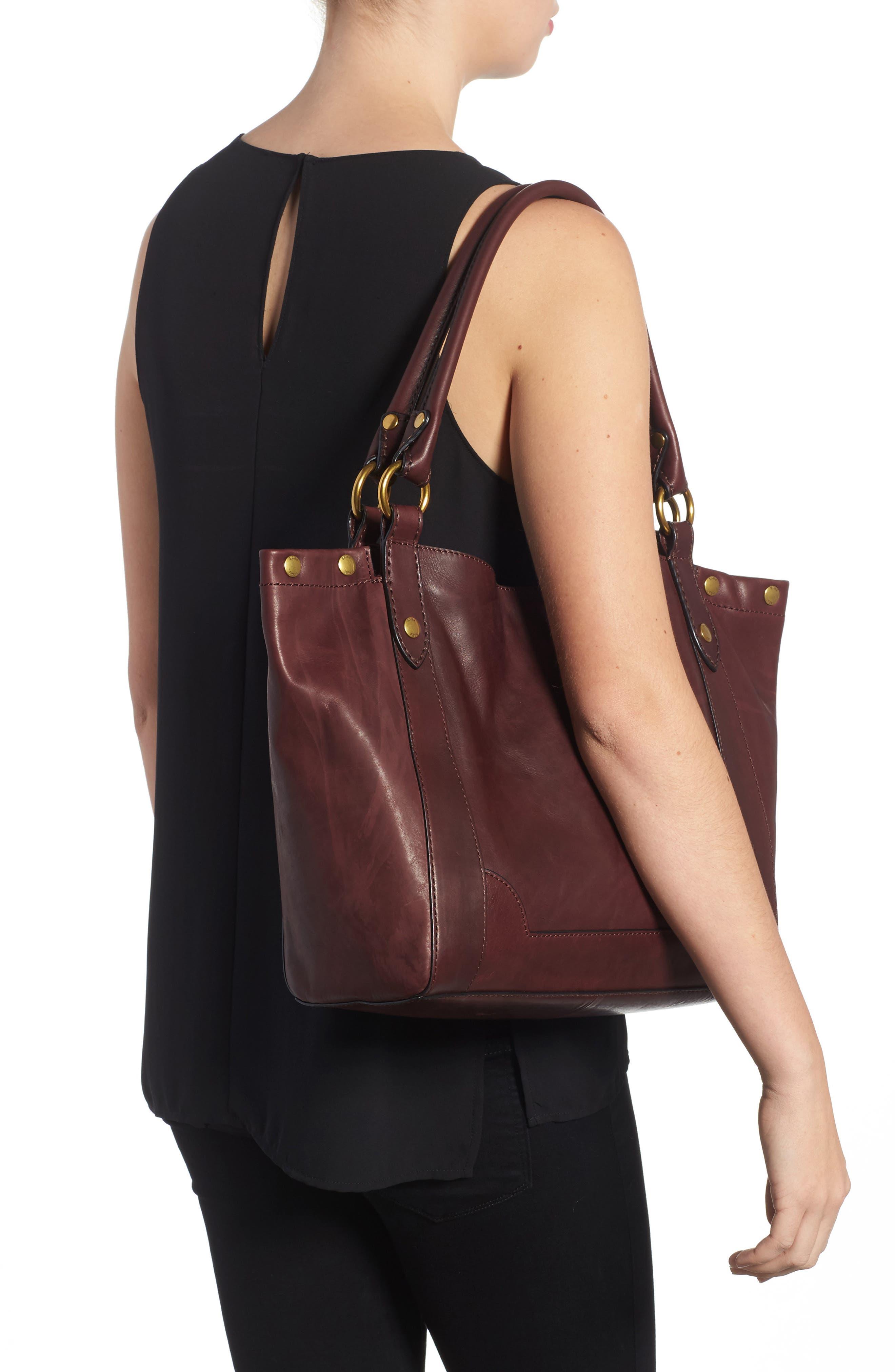 Melissa Leather Shoulder Bag,                             Alternate thumbnail 6, color,