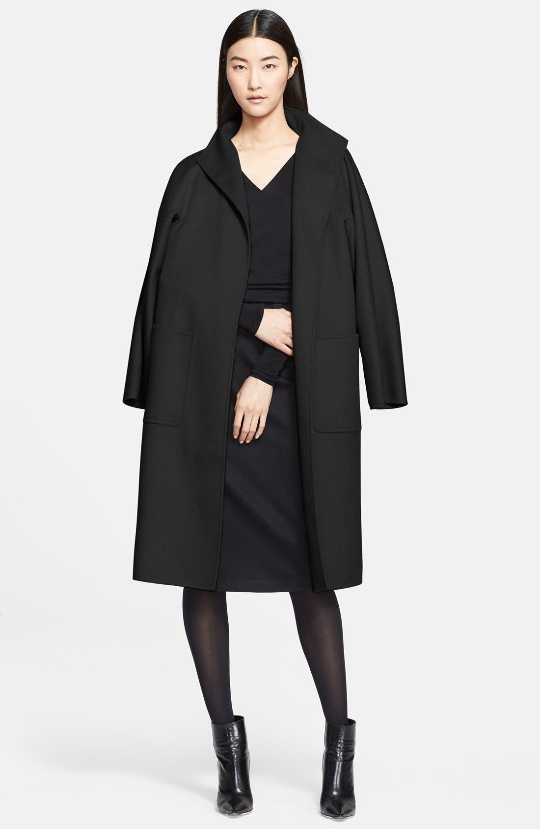 MAX MARA,                             'Lilia' Belted Cashmere Coat,                             Alternate thumbnail 2, color,                             001