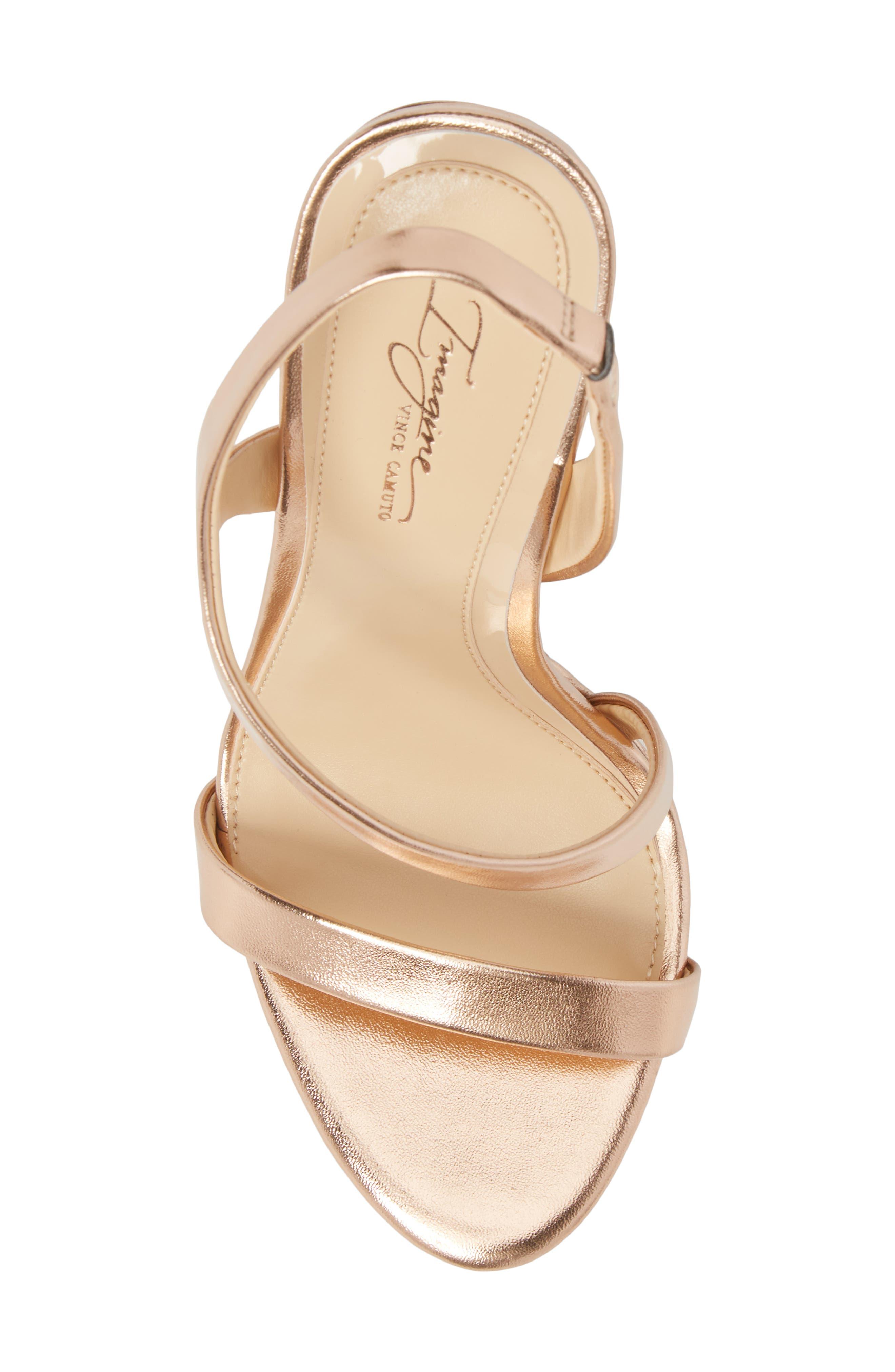 Piera Platform Sandal,                             Alternate thumbnail 5, color,                             ROSE GOLD LEATHER