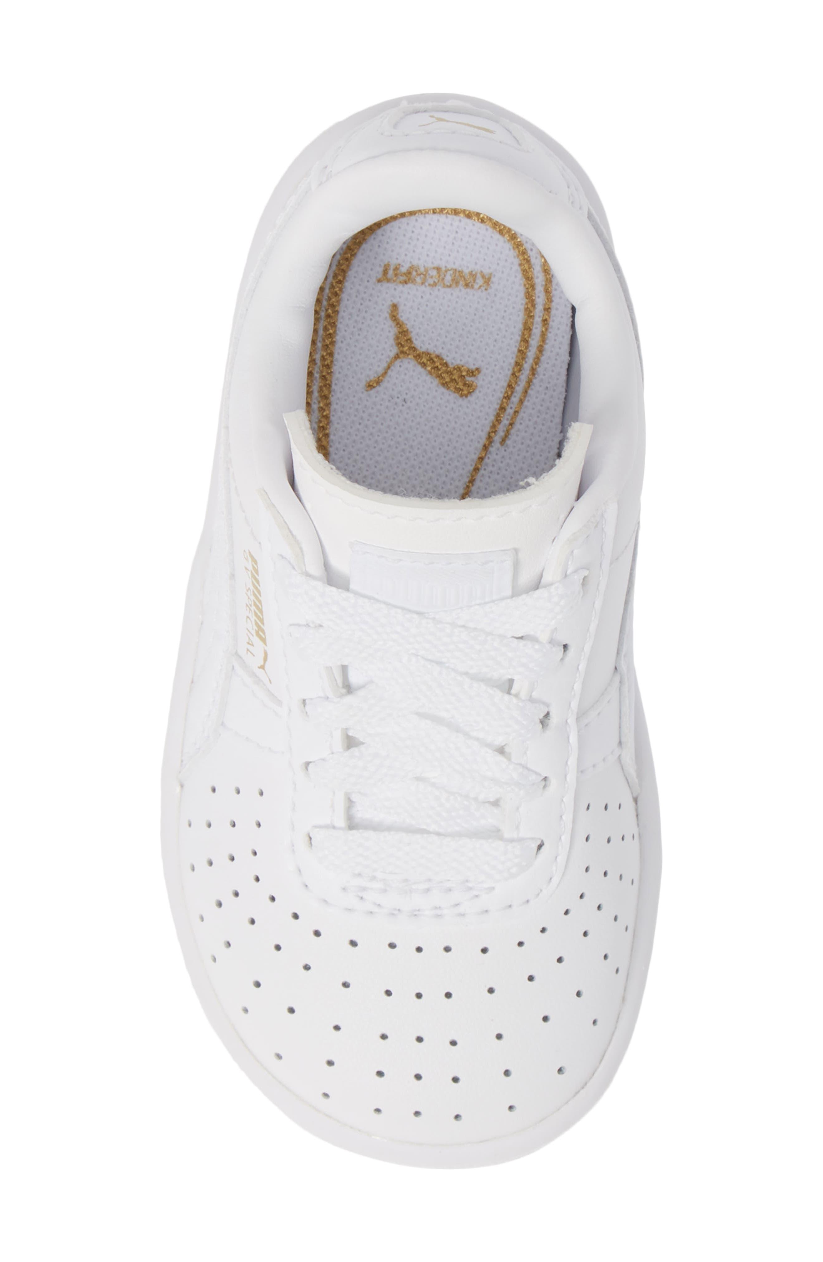 GV Special Sneaker,                             Alternate thumbnail 5, color,                             PUMA WHITE-PUMA TEAM GOLD