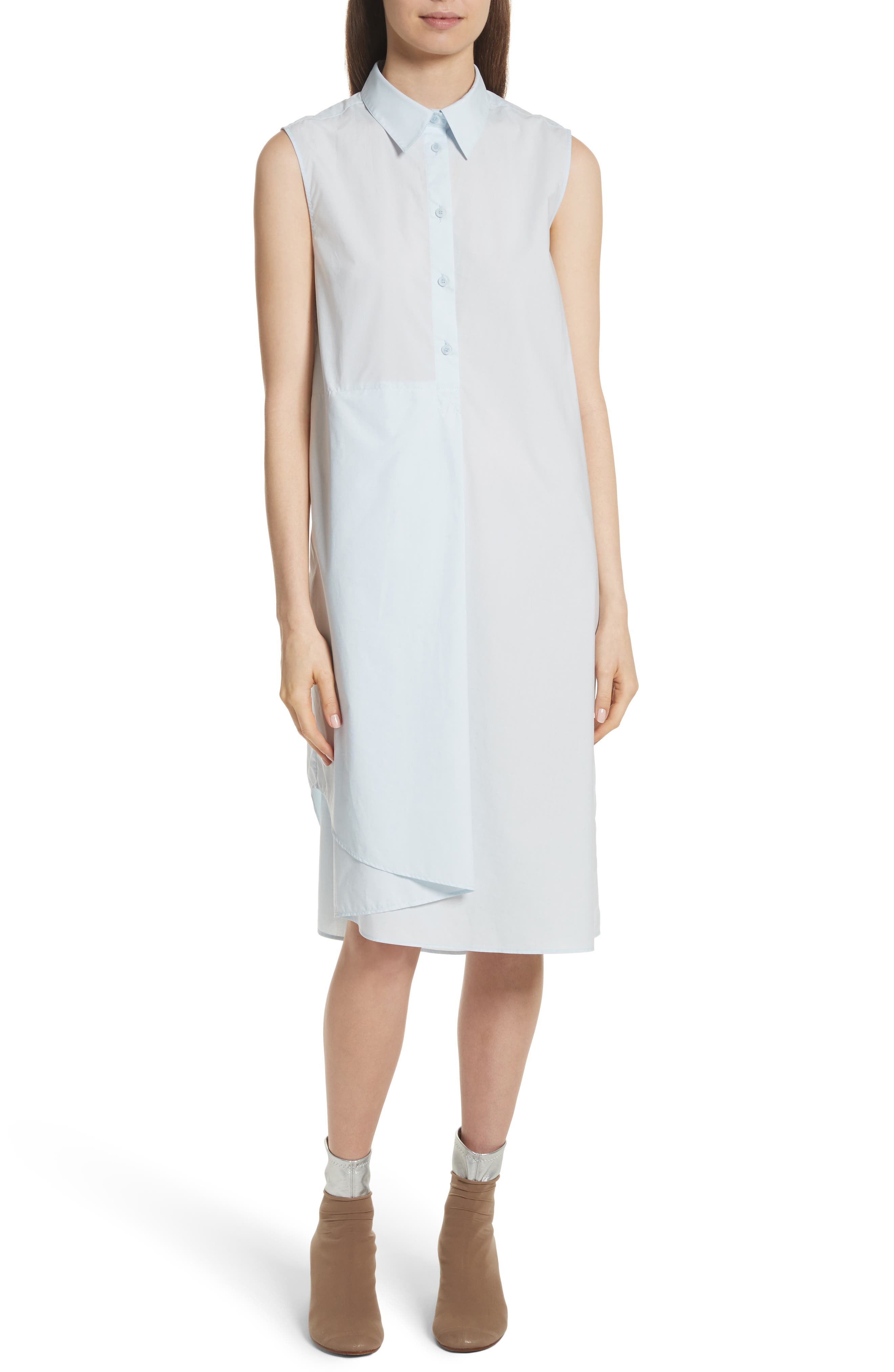 Sleeveless Shirtdress,                         Main,                         color, 422