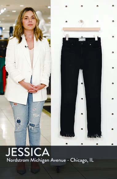 We the Free by Free People Great Heights Frayed Skinny Jeans, sales video thumbnail