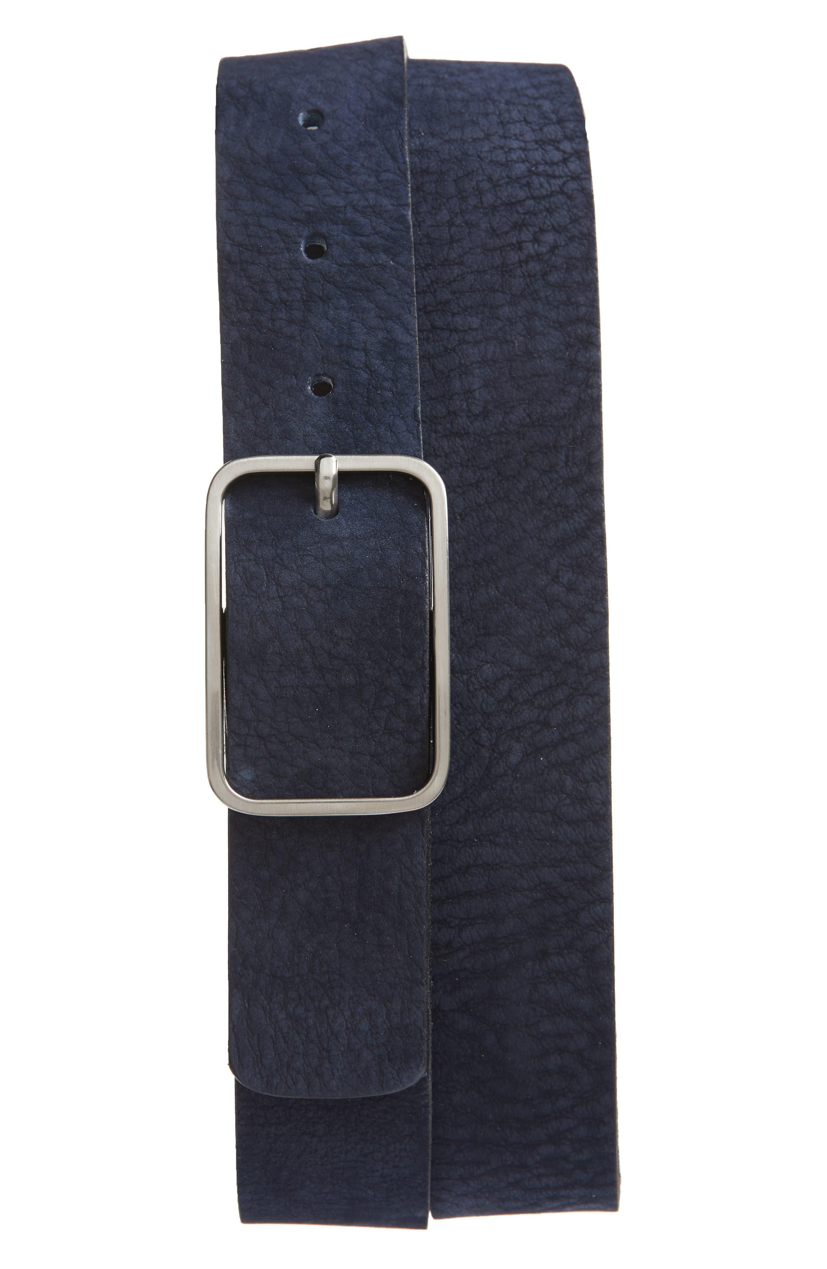 Ted Baker London Escobar Nubuck Belt, Blue