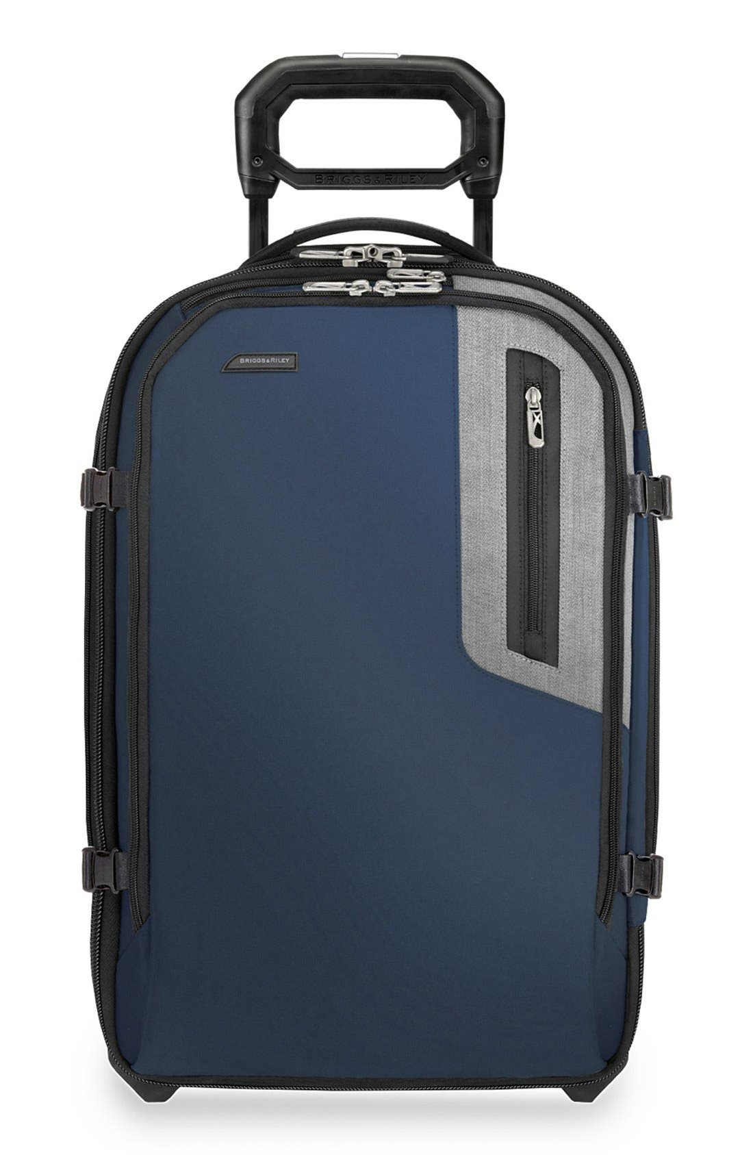 BRIGGS & RILEY 'BRX - Explore' Domestic Wheeled Carry-On, Main, color, BLUE