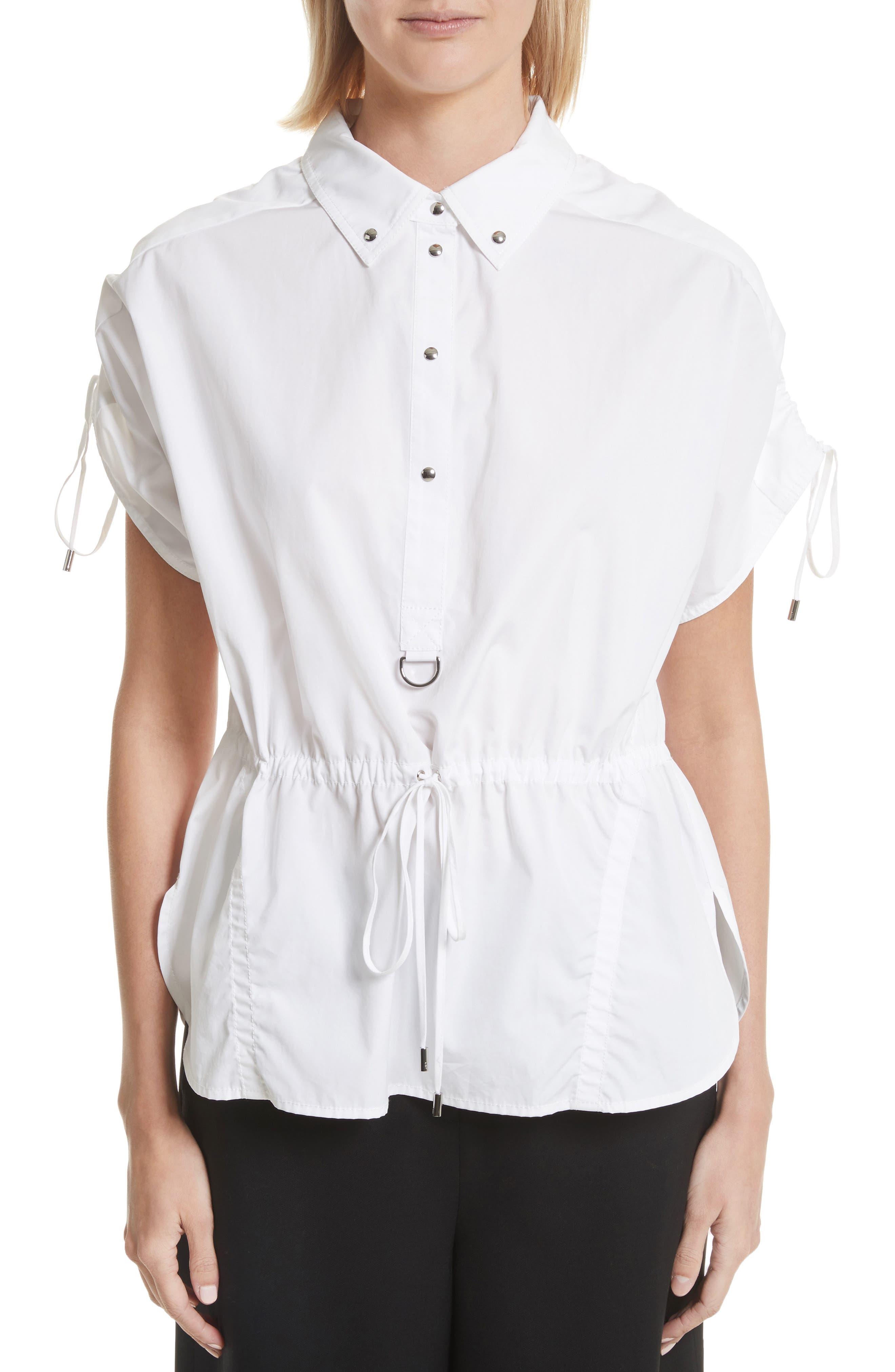 Cotton Poplin Shirt,                         Main,                         color, 110