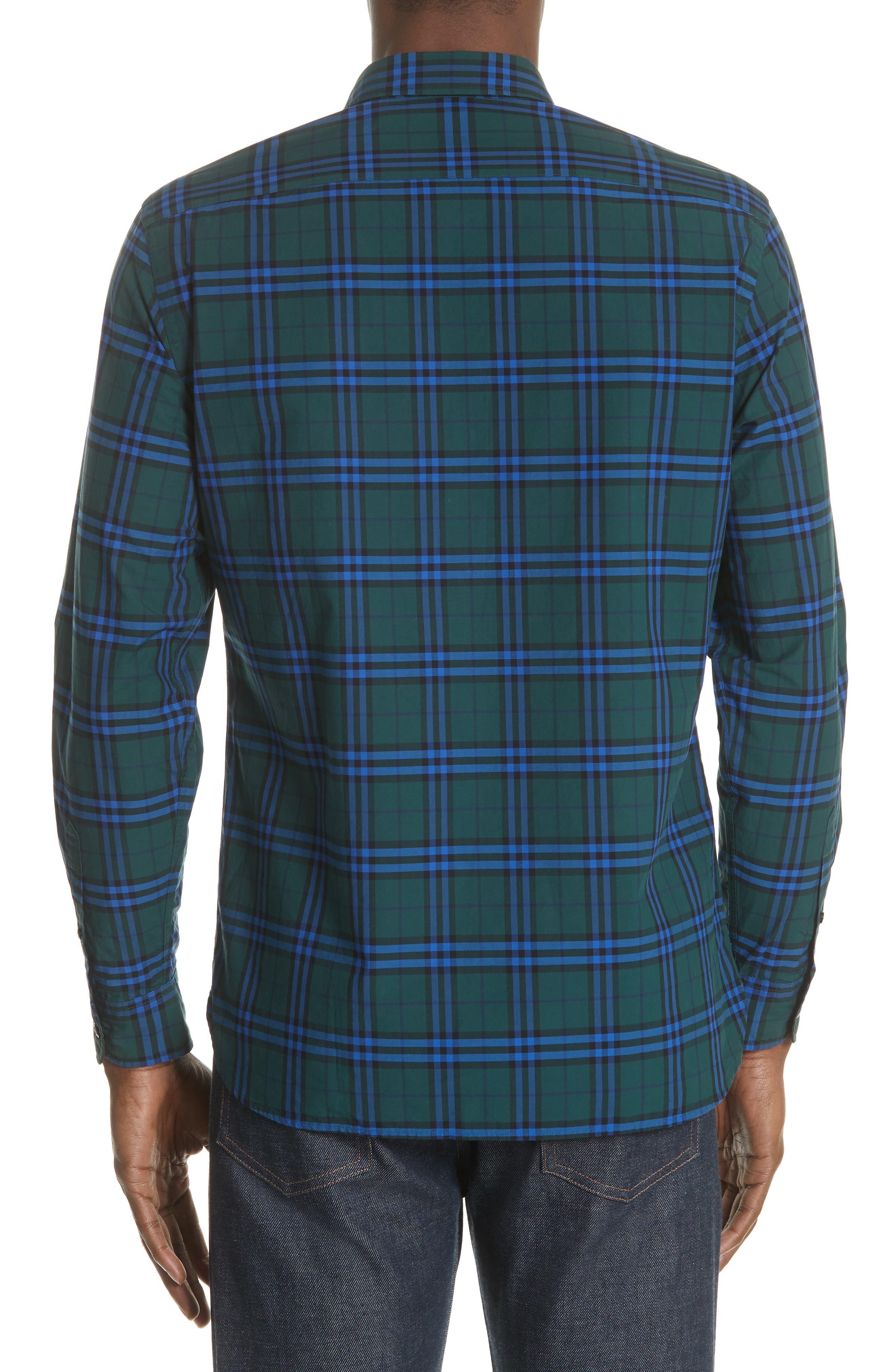 Alexander Check Sport Shirt,                             Alternate thumbnail 2, color,                             341