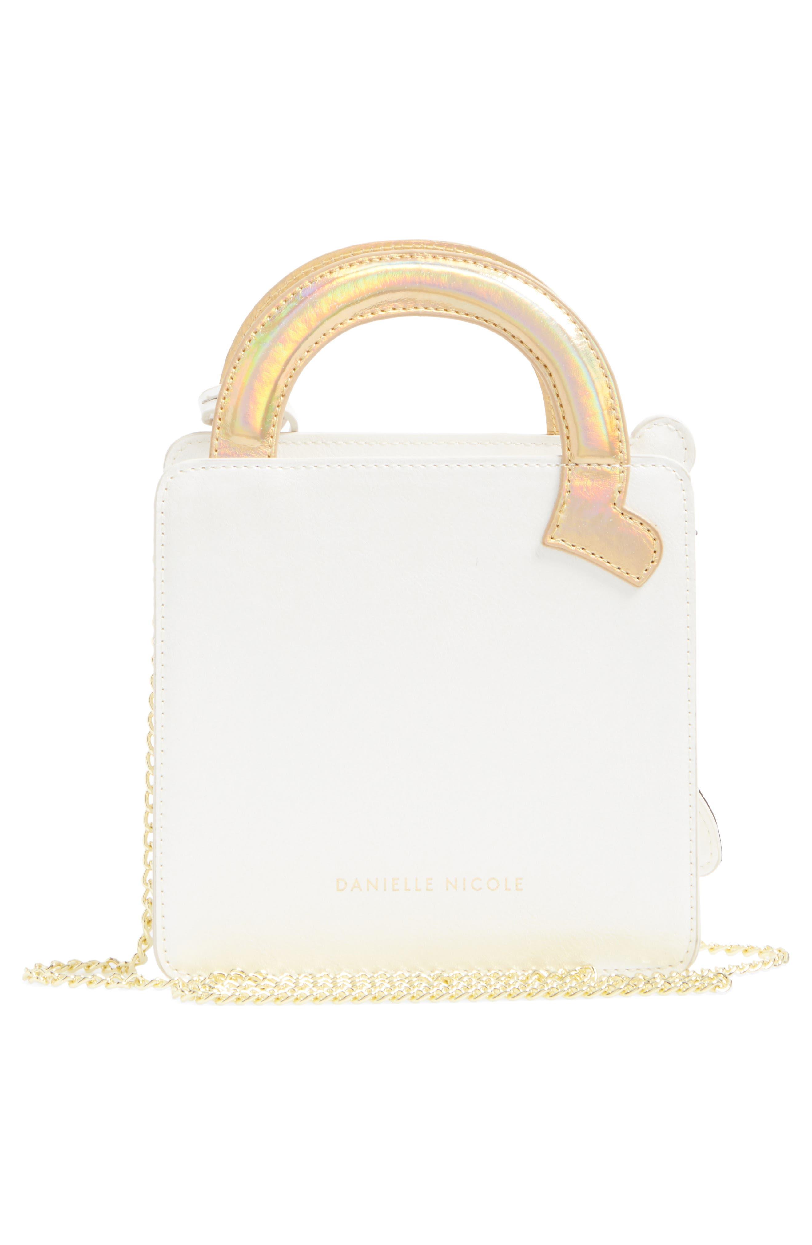 DANIELLE NICOLE,                             x Disney<sup>®</sup> Mrs. Potts & Chip Faux Leather Crossbody Bag,                             Alternate thumbnail 3, color,                             040