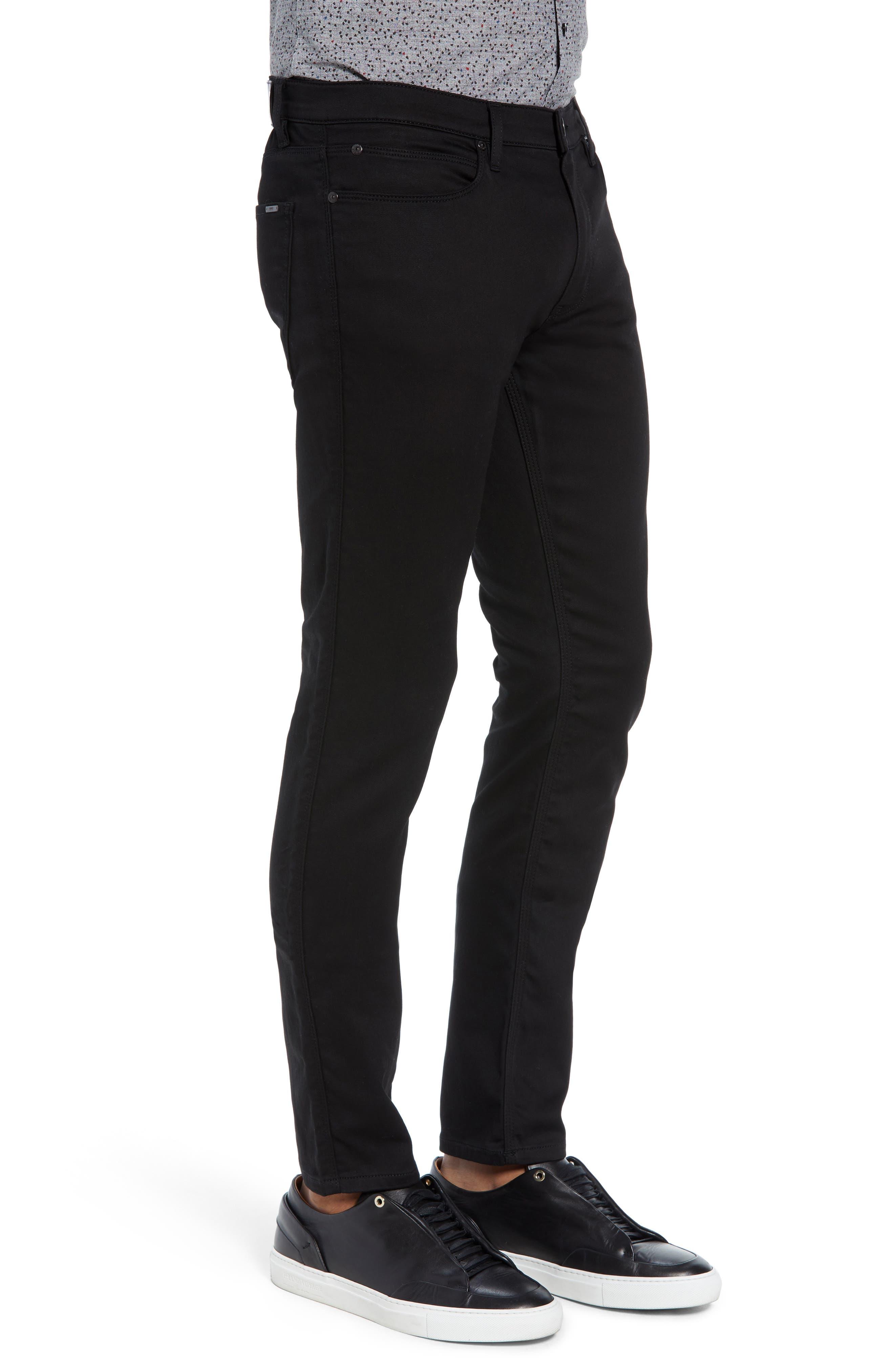 734 Skinny Fit Jeans,                             Alternate thumbnail 3, color,                             BLACK
