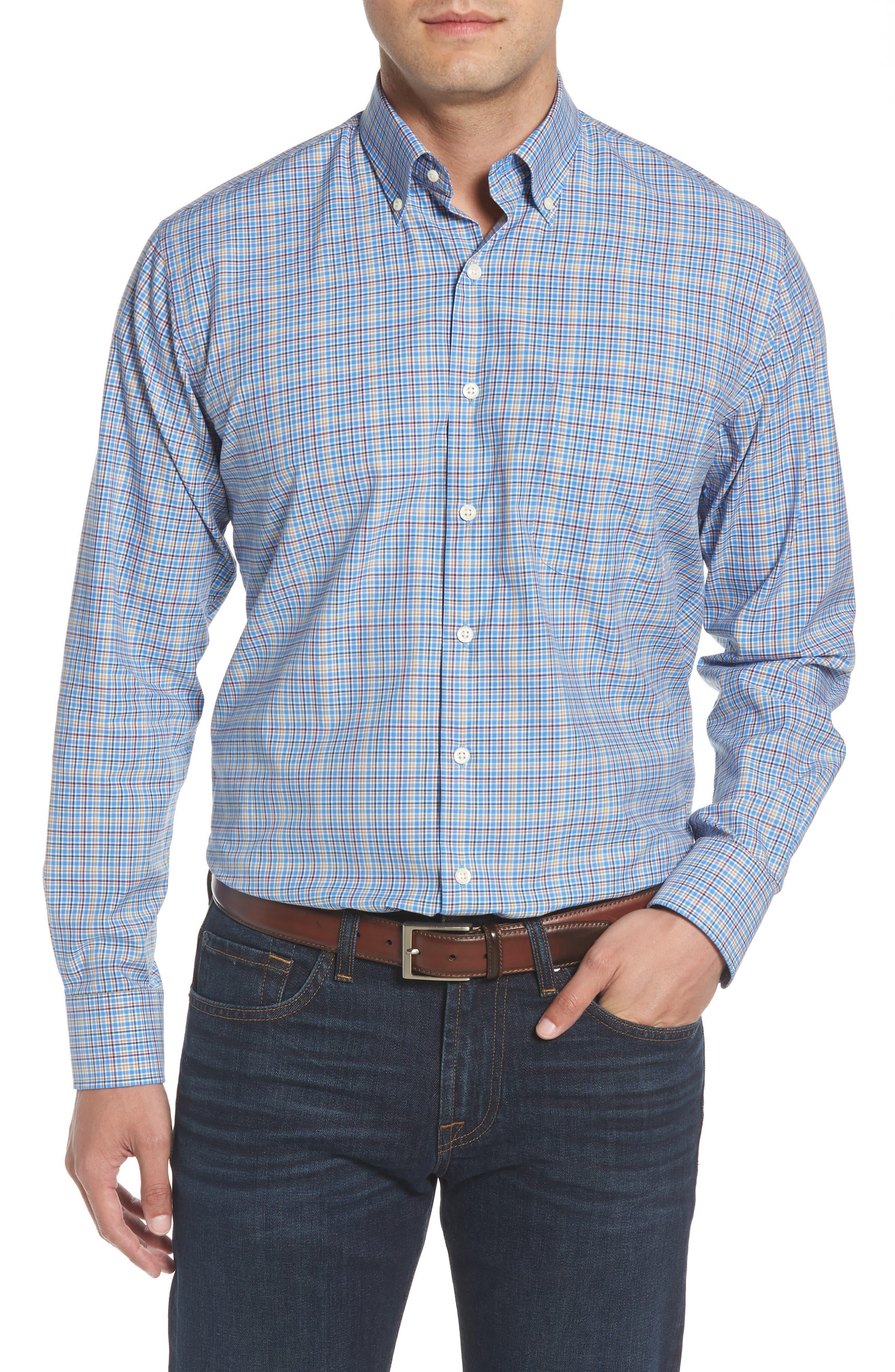 Fremont Regular Fit Multicheck Sport Shirt,                         Main,                         color, 485
