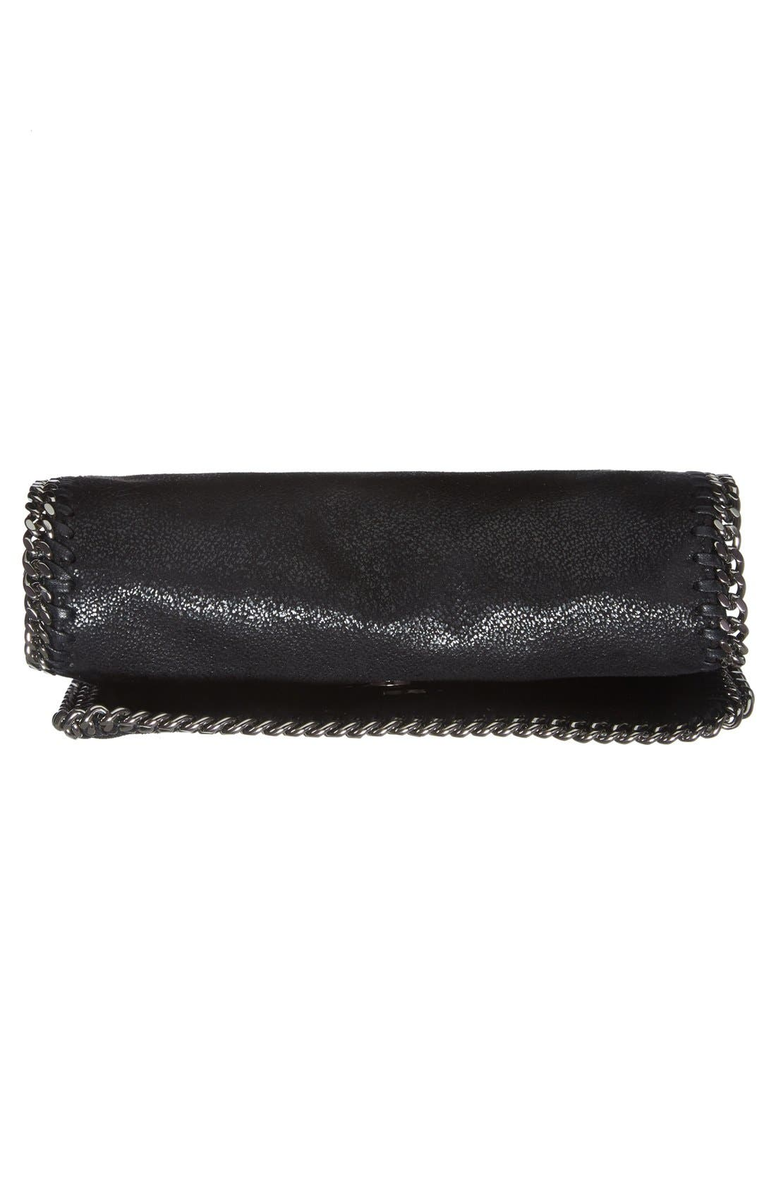 STELLA MCCARTNEY,                             'Falabella Crystal' Embellished Faux Leather Crossbody Bag,                             Alternate thumbnail 5, color,                             001