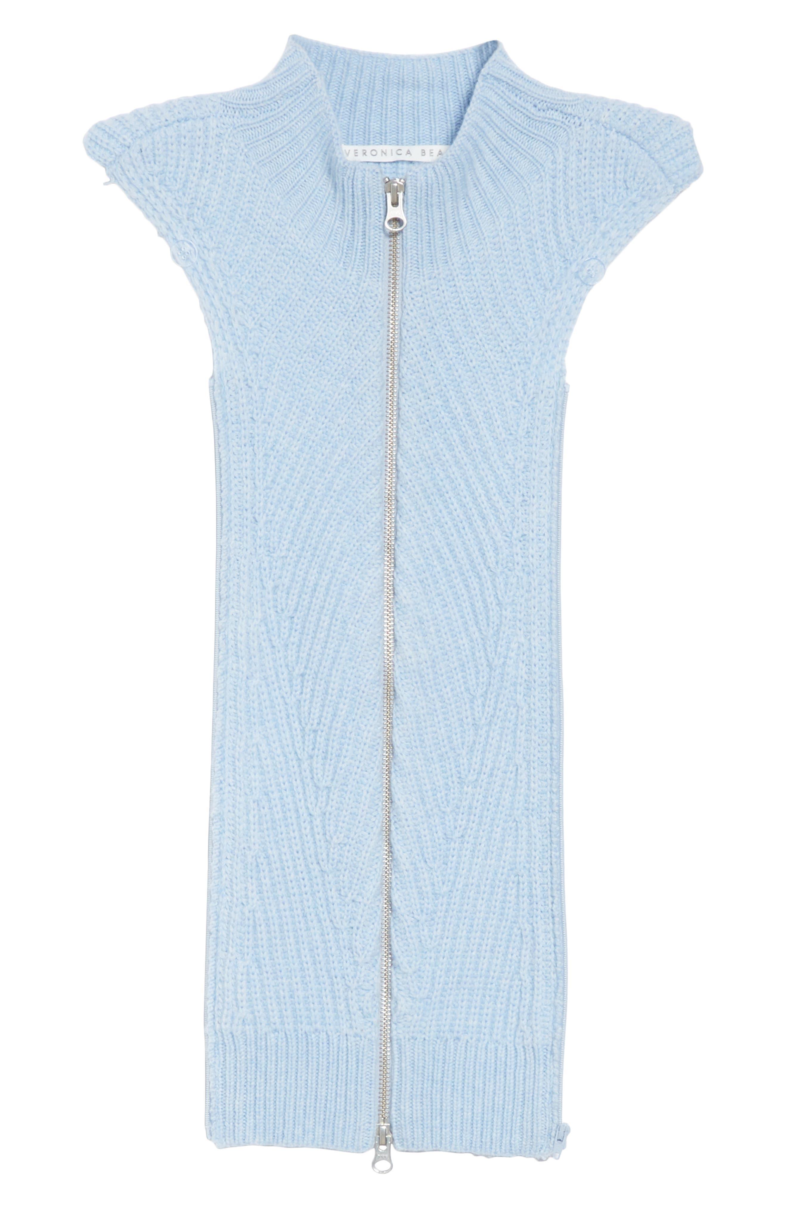 Veronica Beard Flori Merino Wool & Cashmere Dickey, Size One Size - Blue