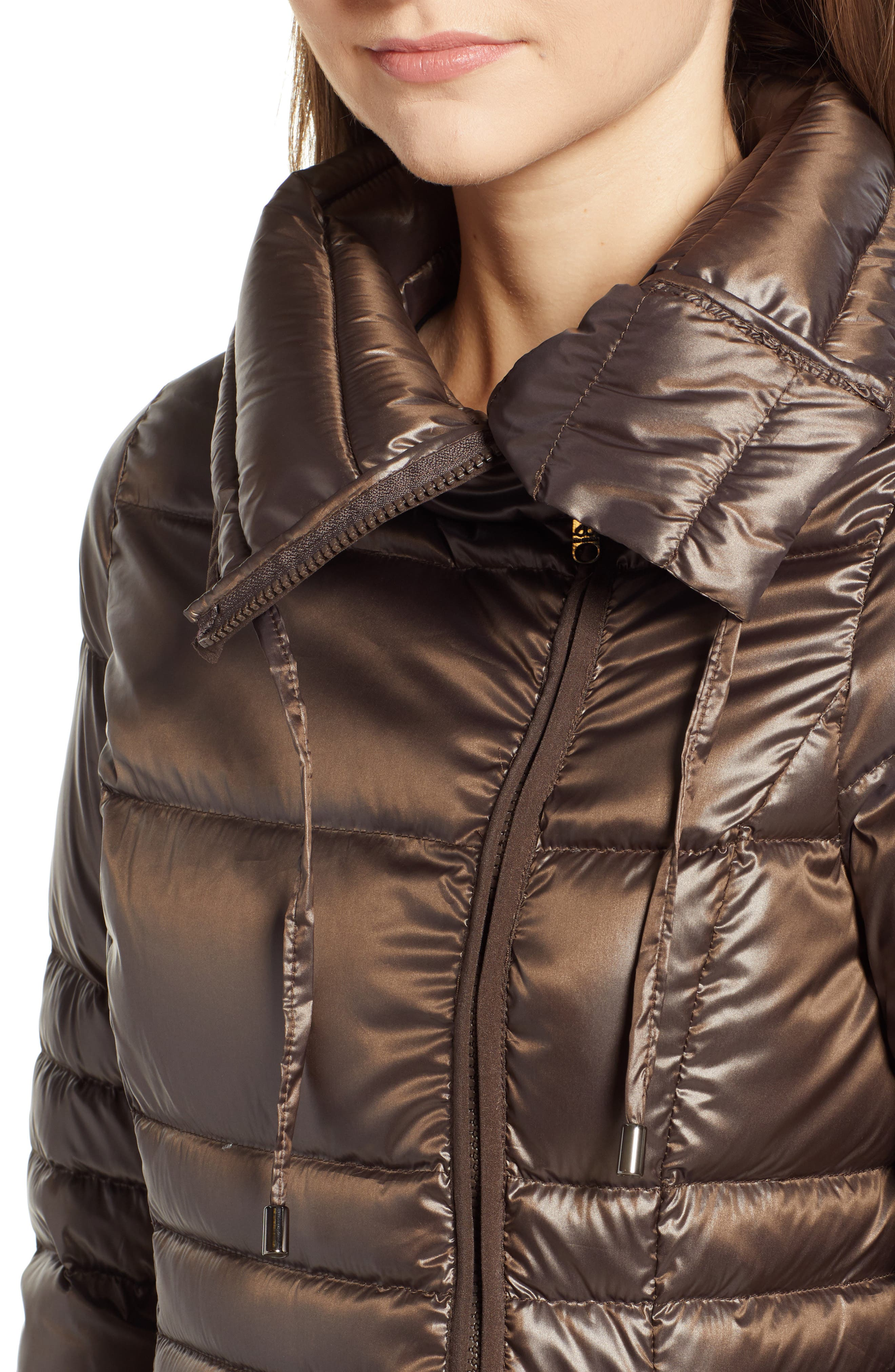Asymmetrical Puffer Jacket,                             Alternate thumbnail 4, color,                             MINK