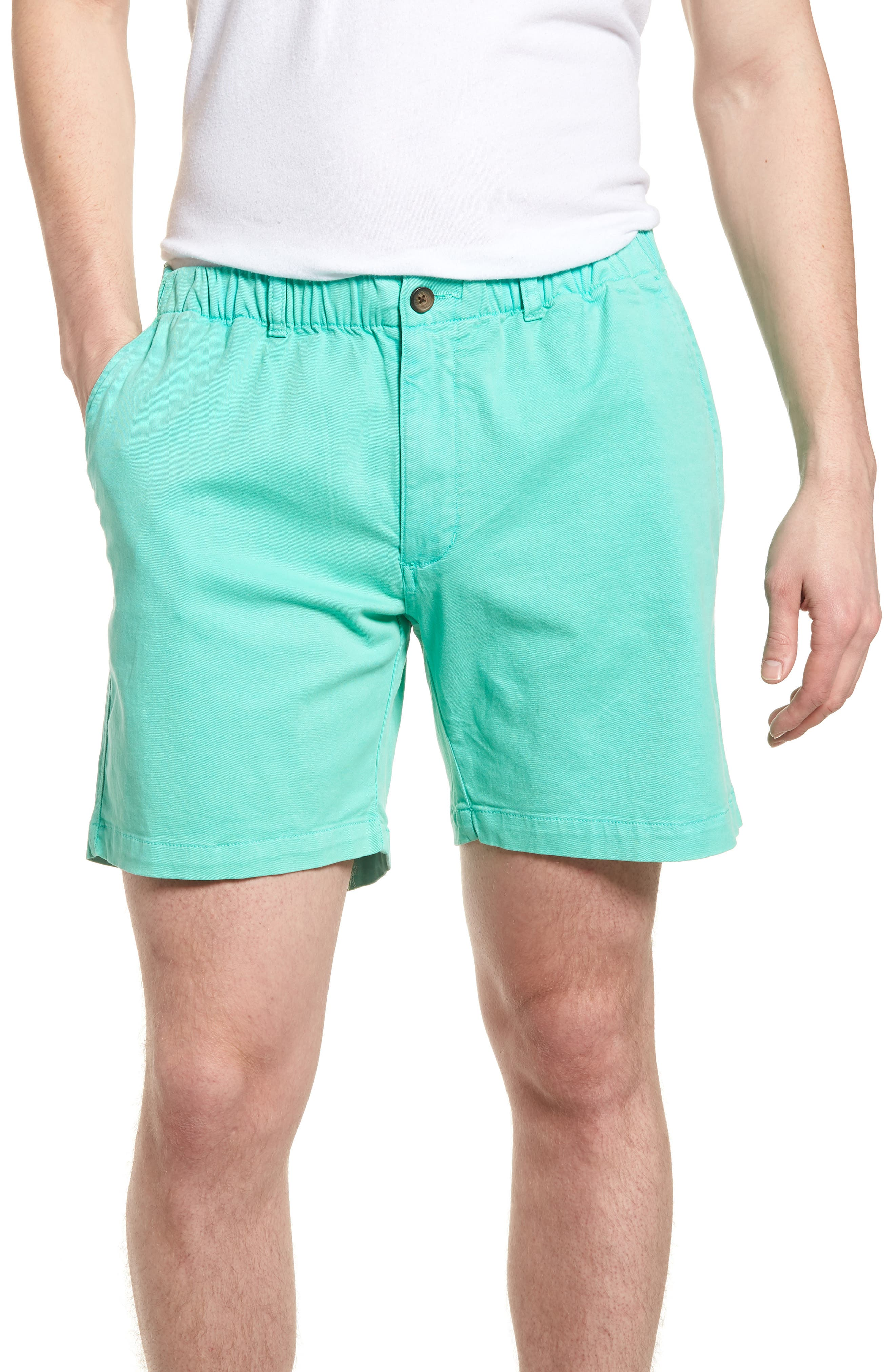 VINTAGE 1946 7In Snappers Elastic Waist Shorts in Aqua