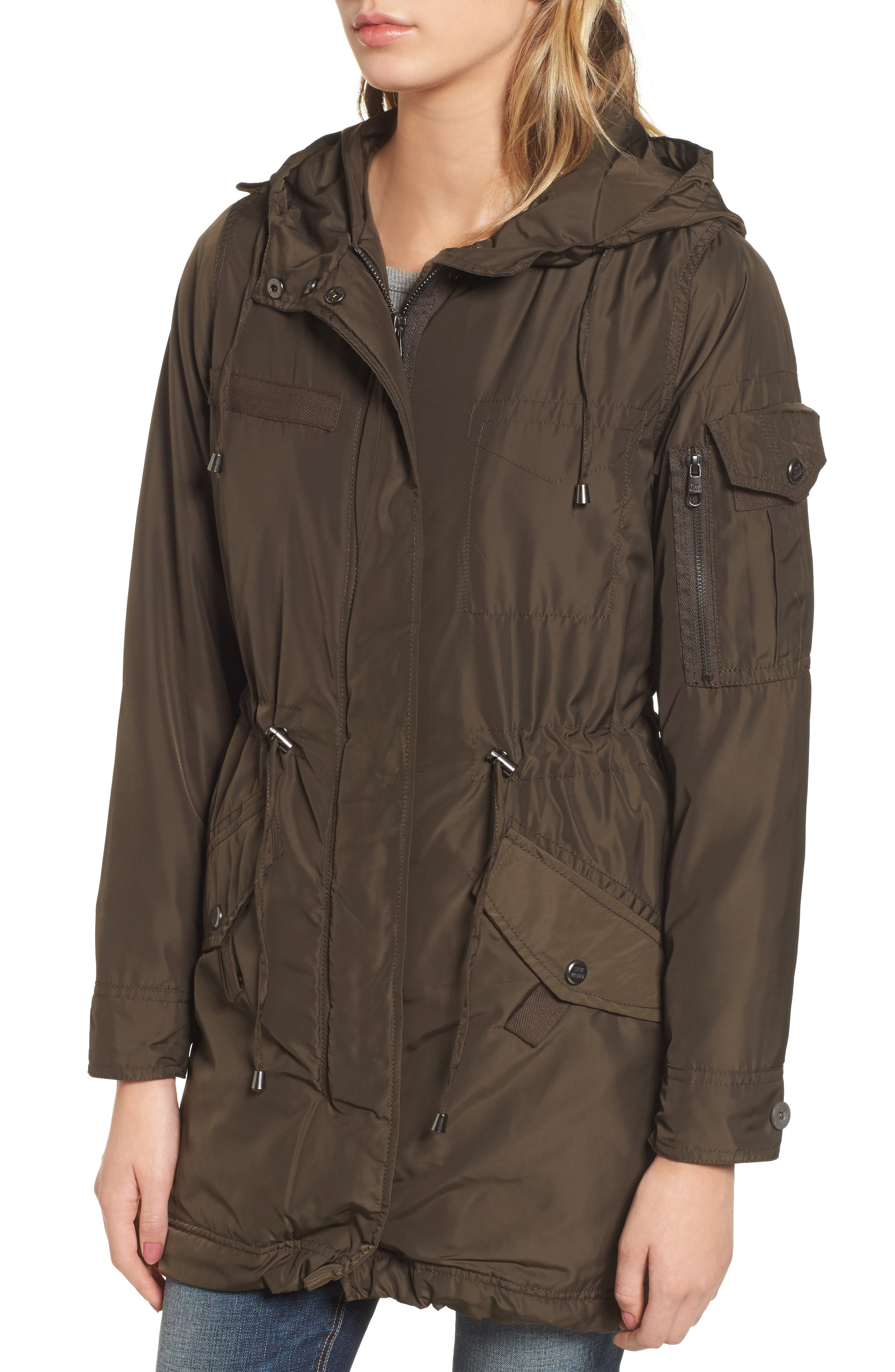 Hooded Water Repellent Anorak,                             Alternate thumbnail 8, color,