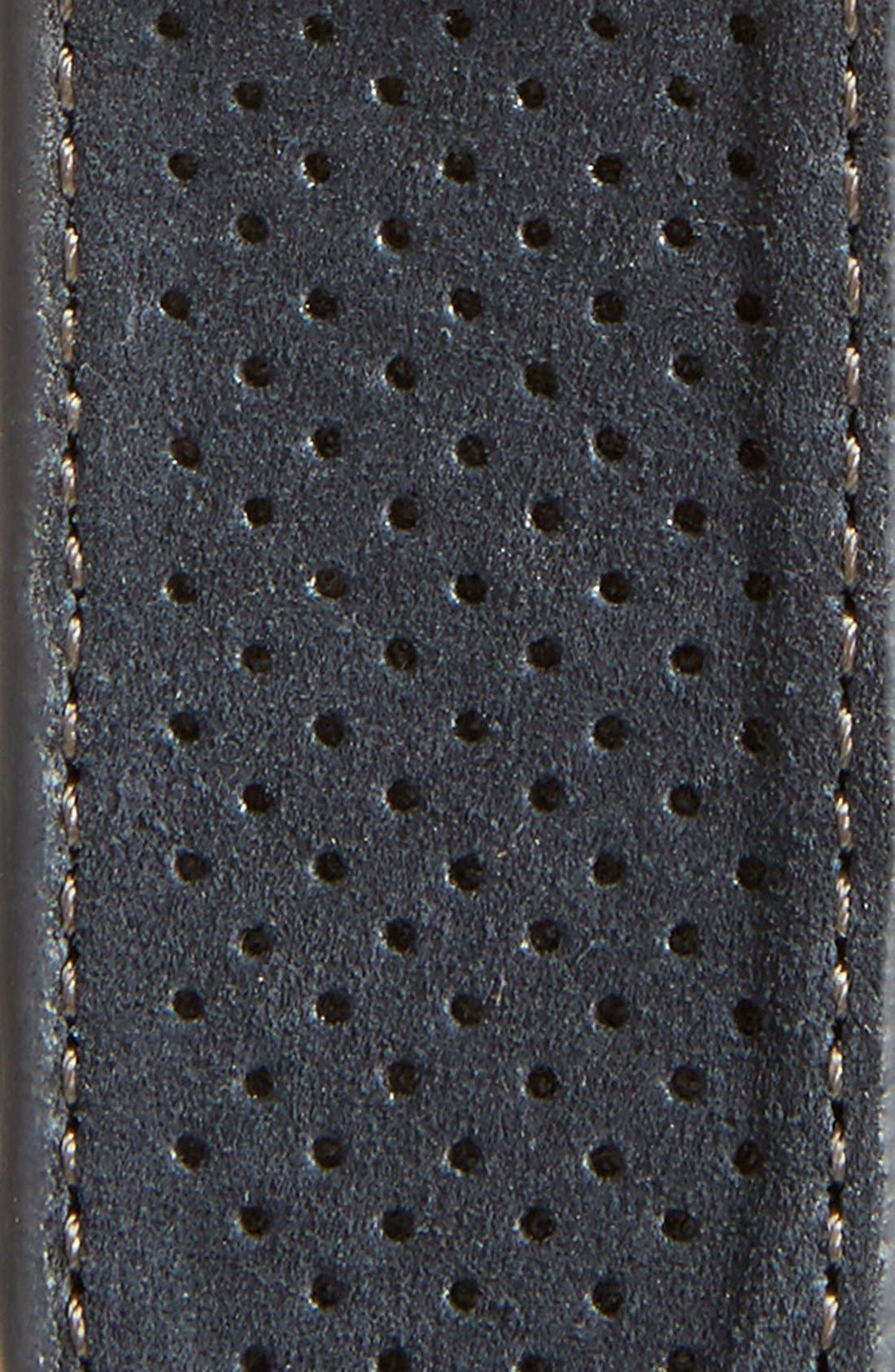Perforated Suede Belt,                             Alternate thumbnail 2, color,                             410