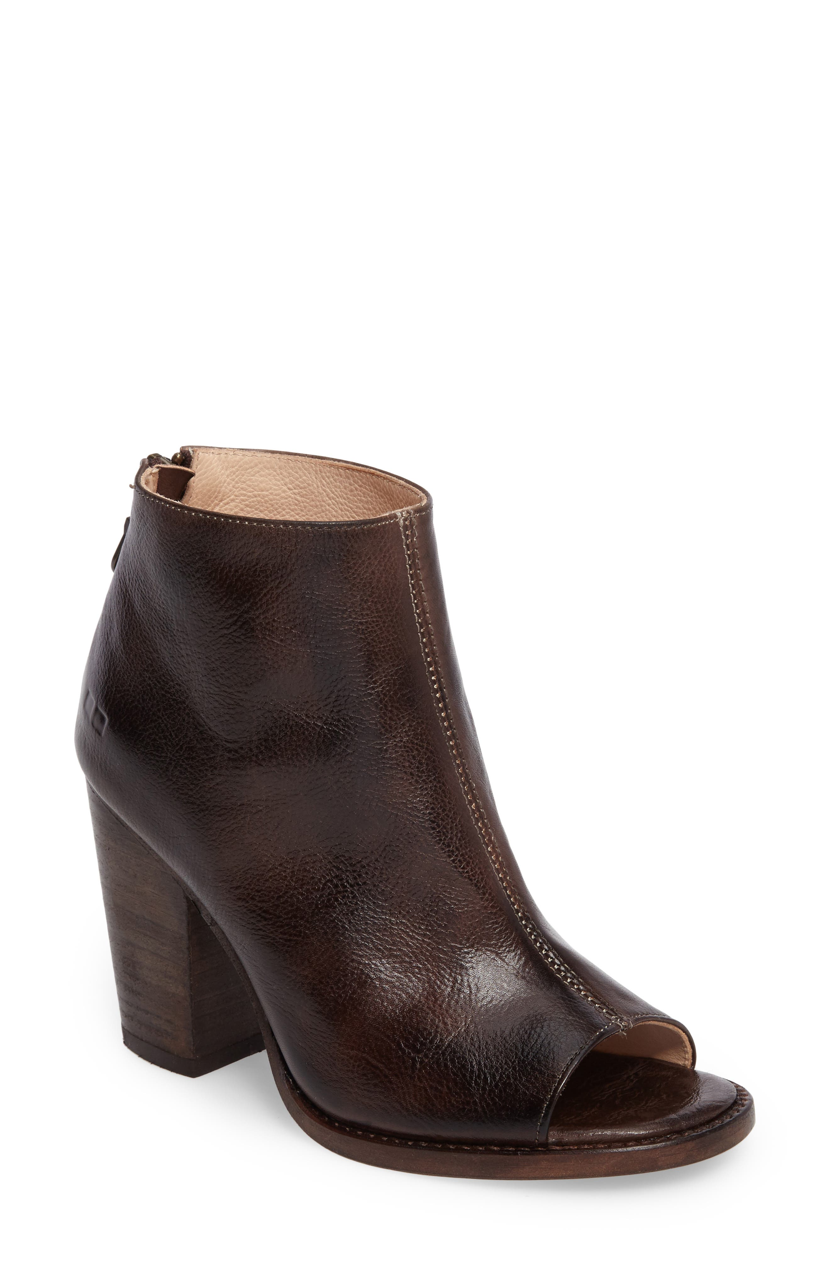 'Onset' Peep Toe Bootie, Main, color, 201