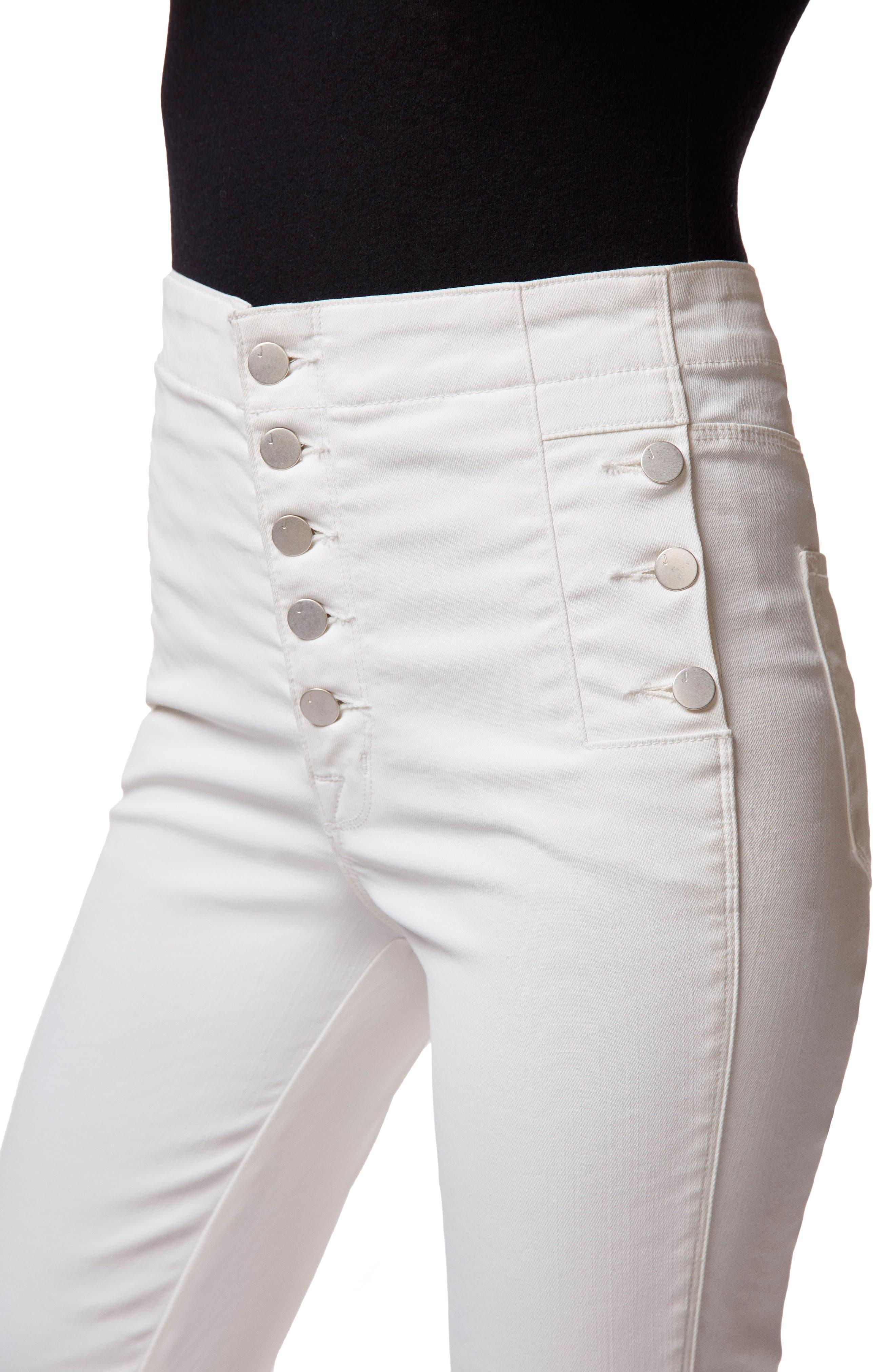 Natasha Sky High Coated Super Skinny Jeans,                             Alternate thumbnail 4, color,                             105