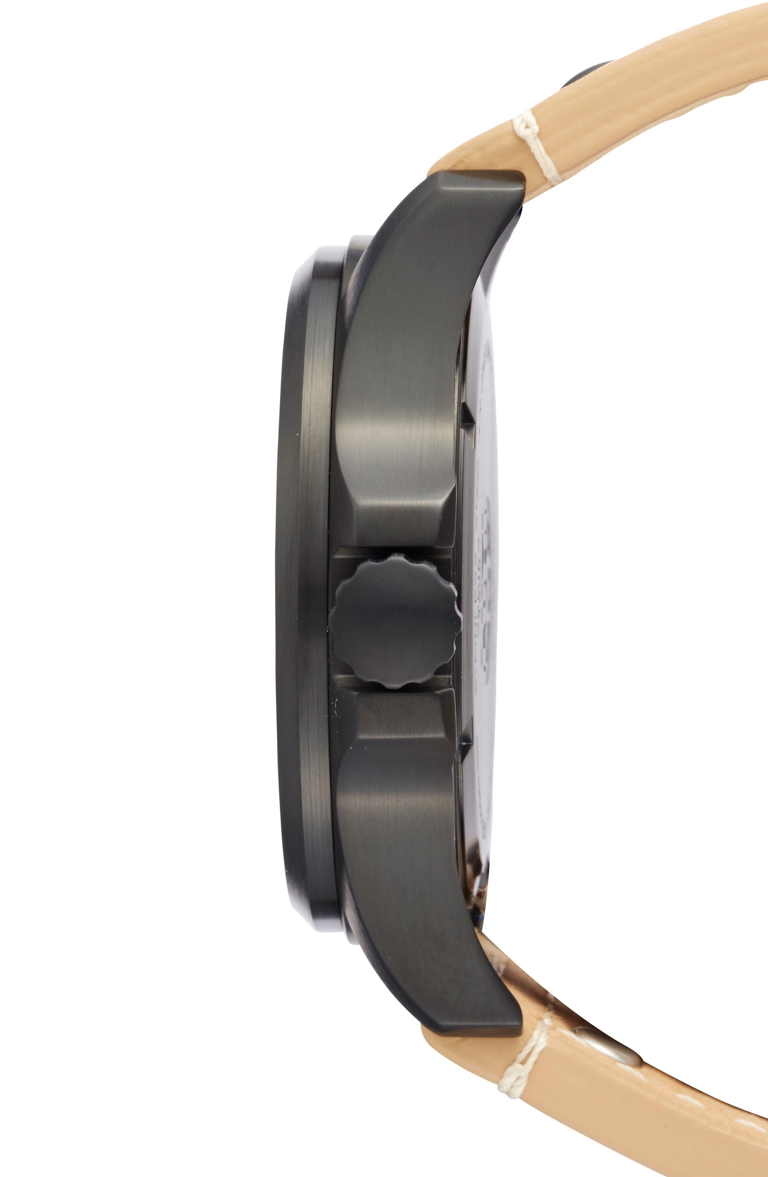 'Land - Atacama Field' Leather Strap Watch, 45mm,                             Alternate thumbnail 16, color,