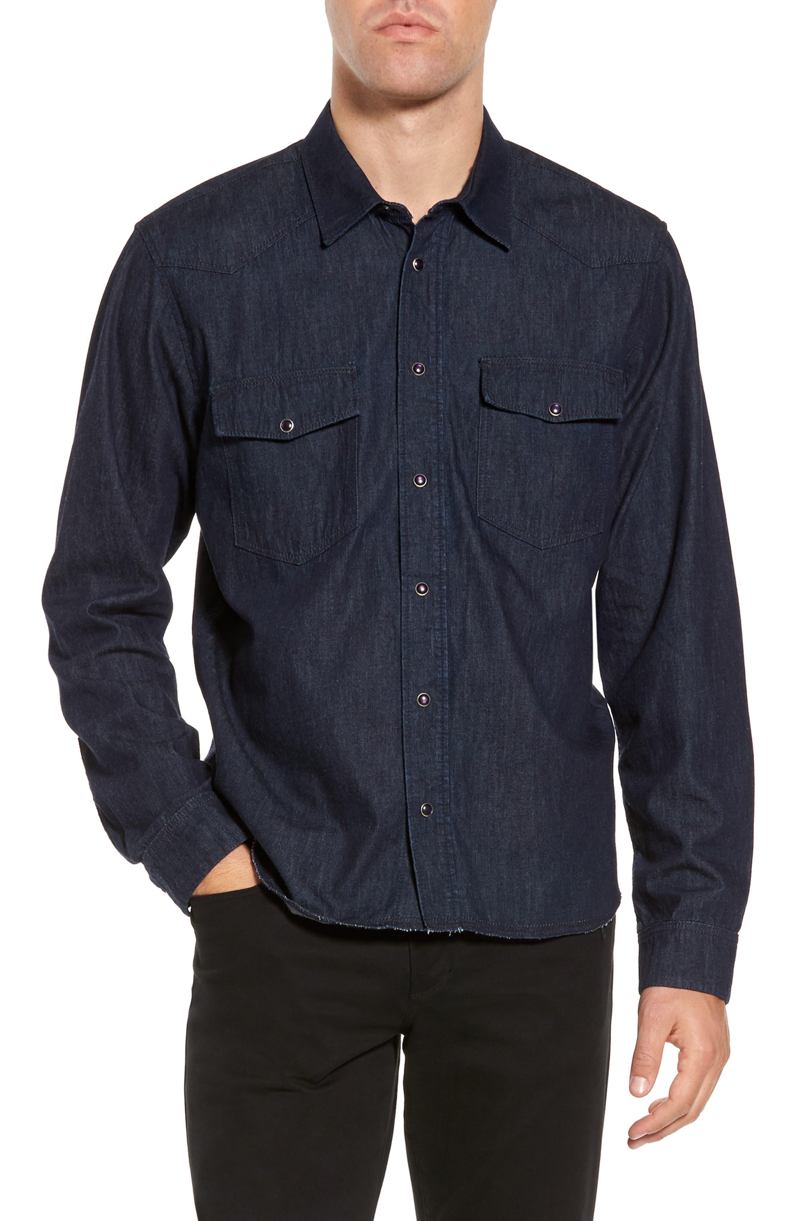 Western Chambray Sport Shirt,                         Main,                         color,