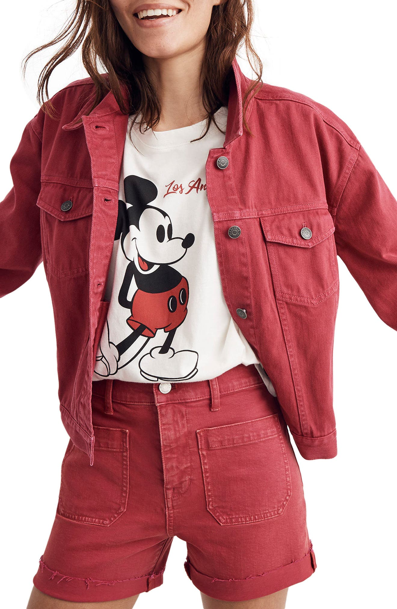 Garment Dyed Boxy Crop Jean Jacket,                             Main thumbnail 1, color,