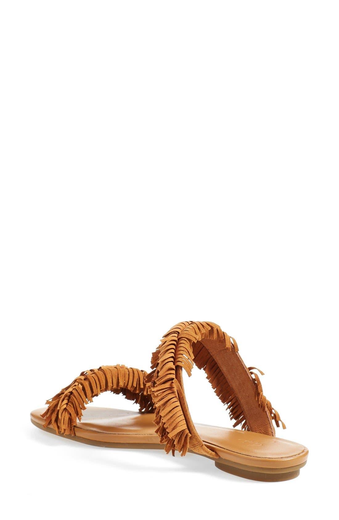 'Pippa' Fringe Slide Sandal,                             Alternate thumbnail 4, color,                             229