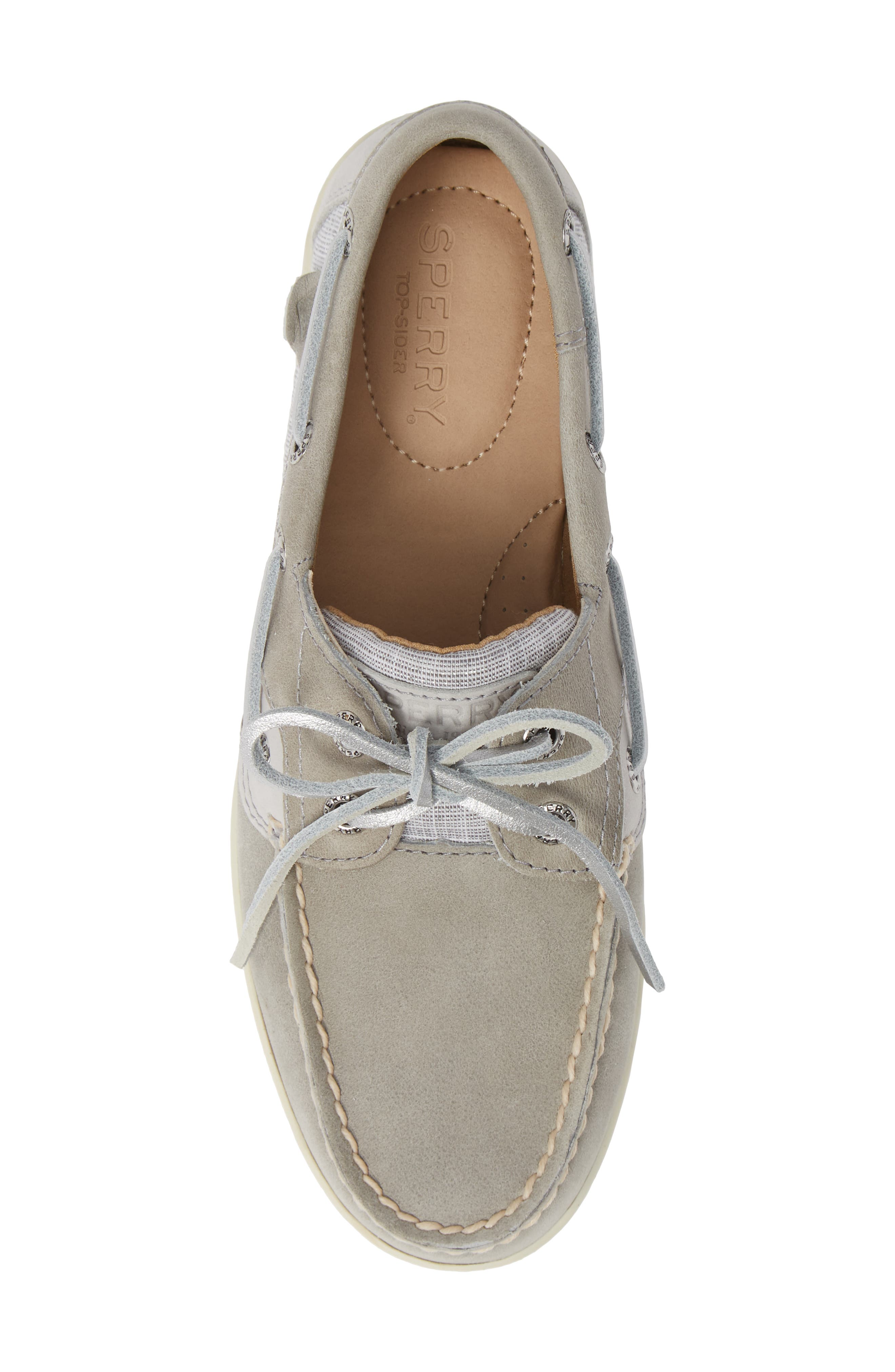 Top-Sider Koifish Loafer,                             Alternate thumbnail 5, color,                             GREY LEATHER