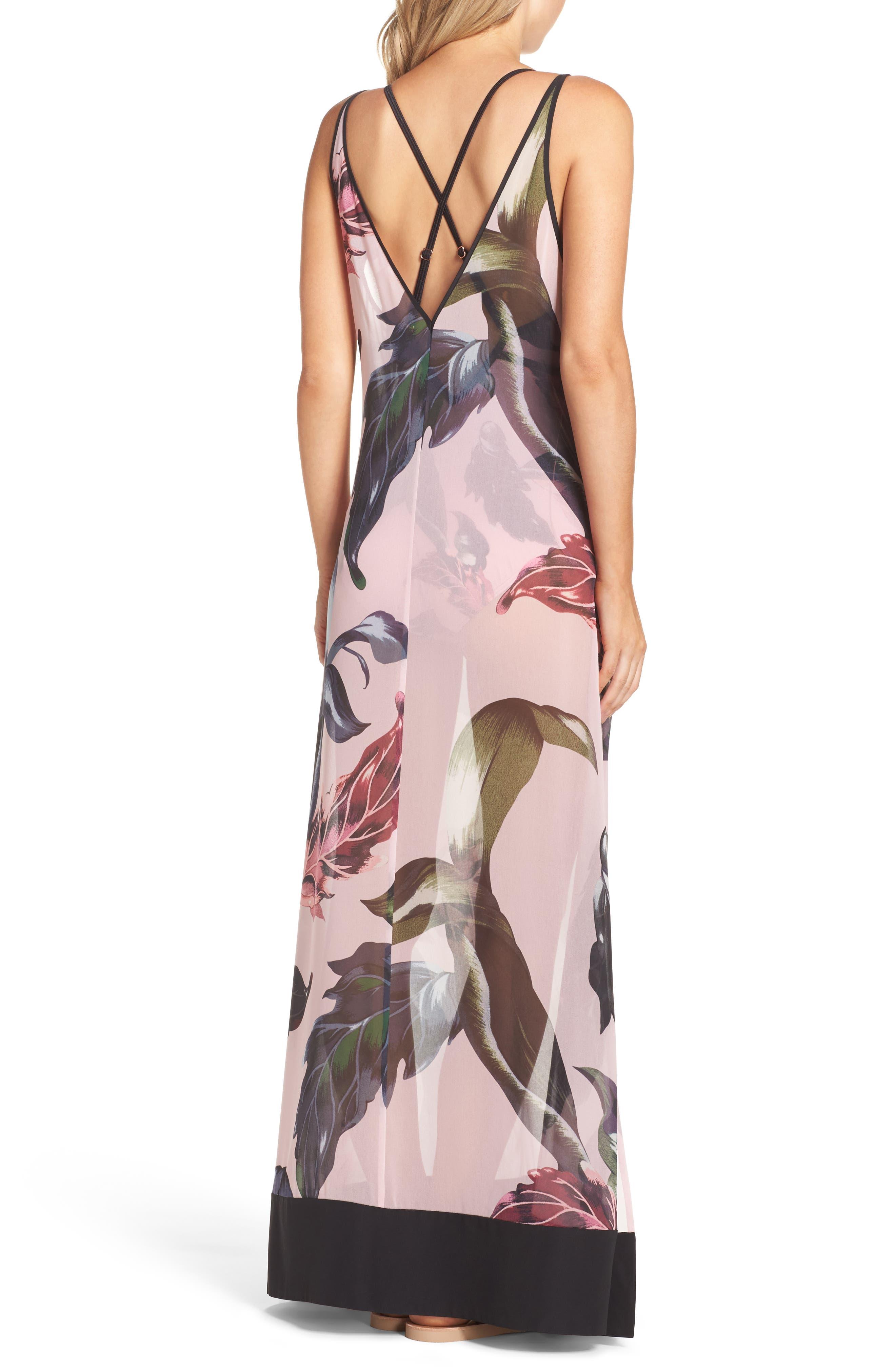 Edela Eden Print Cover-Up Maxi Dress,                             Alternate thumbnail 2, color,                             680