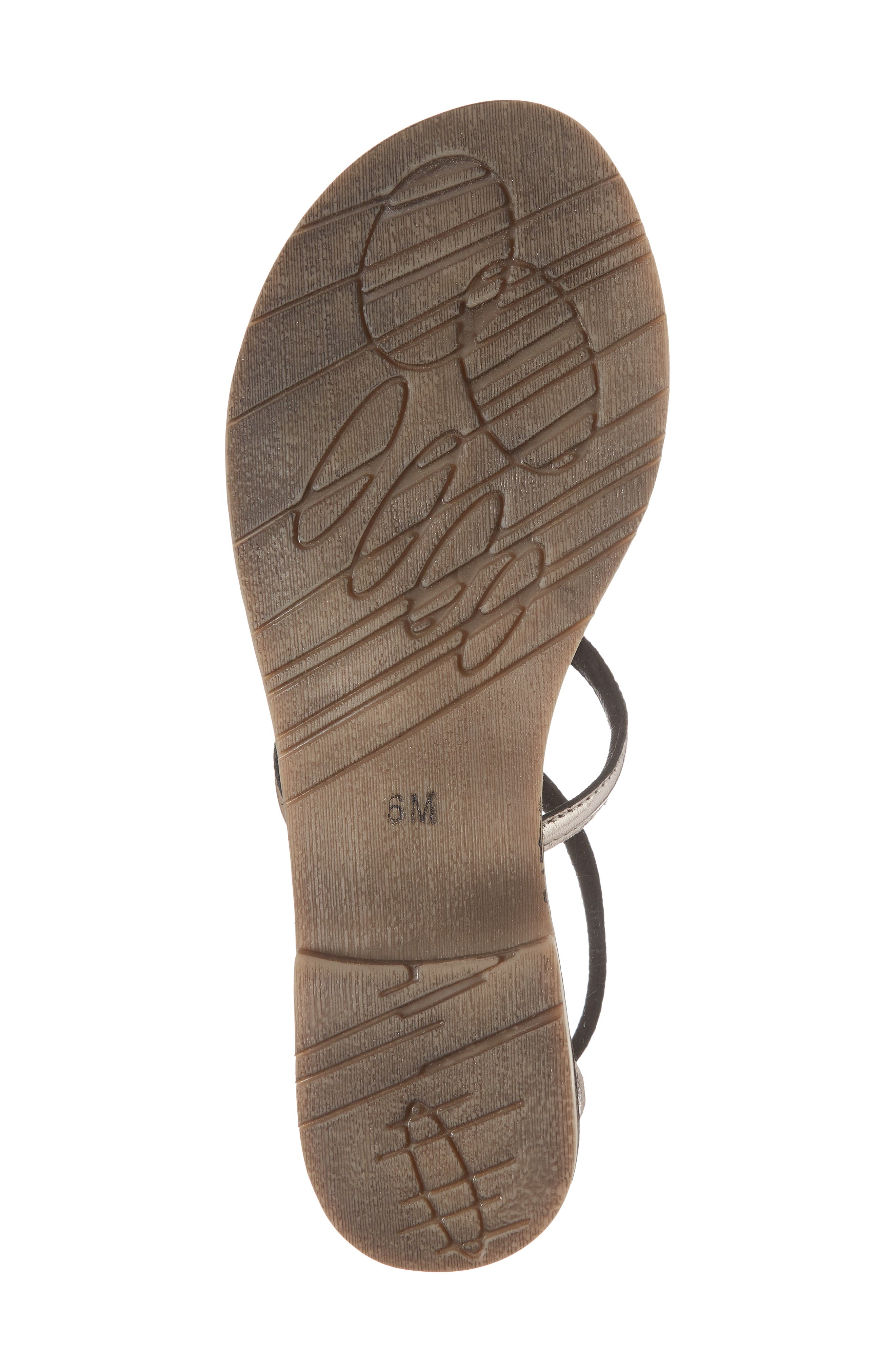 Palm Beach Metallic Sandal,                             Alternate thumbnail 6, color,                             PEWTER LEATHER