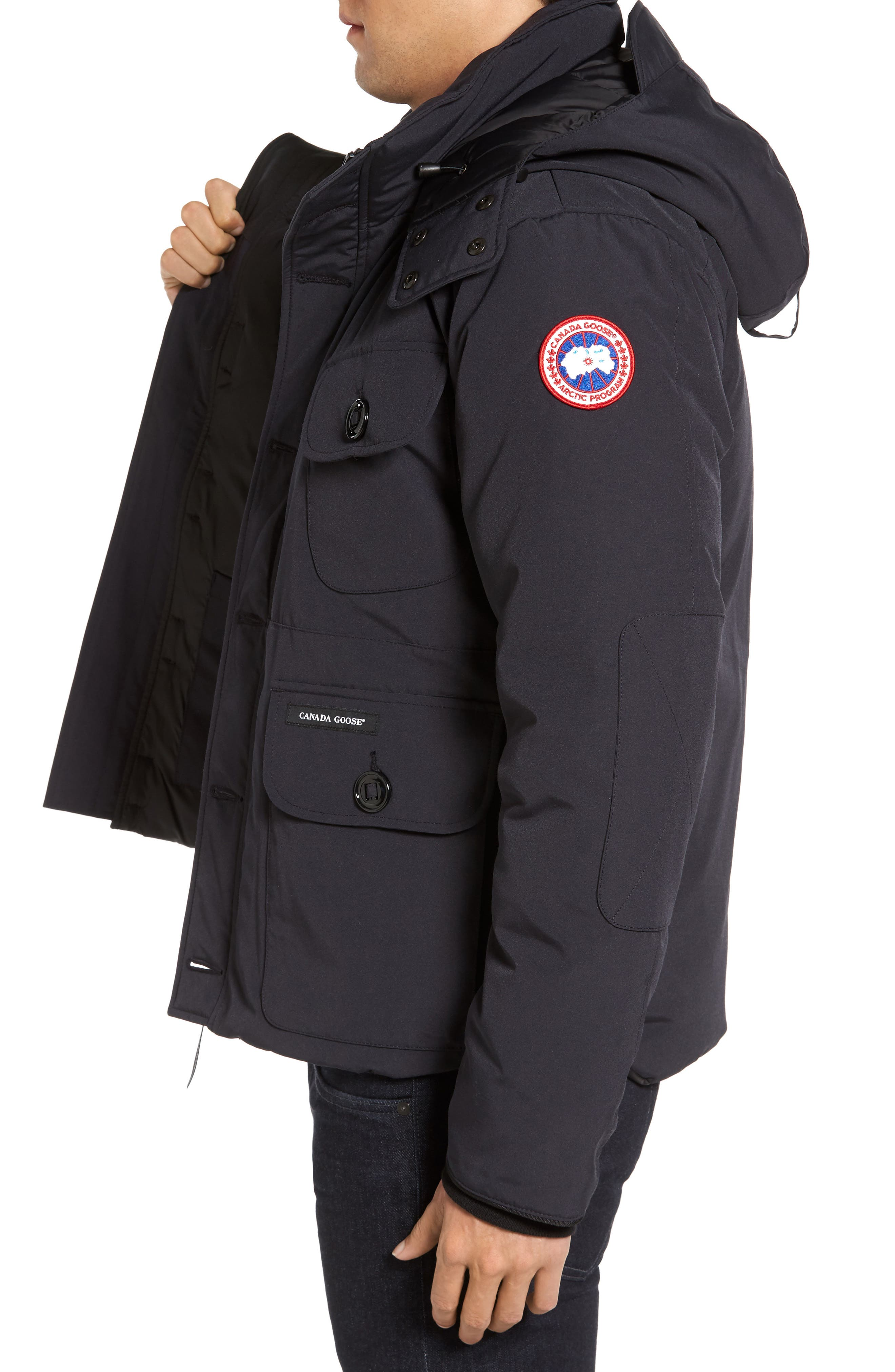 'Selkirk' Slim Fit Water Resistant Down Parka with Detachable Hood,                             Alternate thumbnail 9, color,