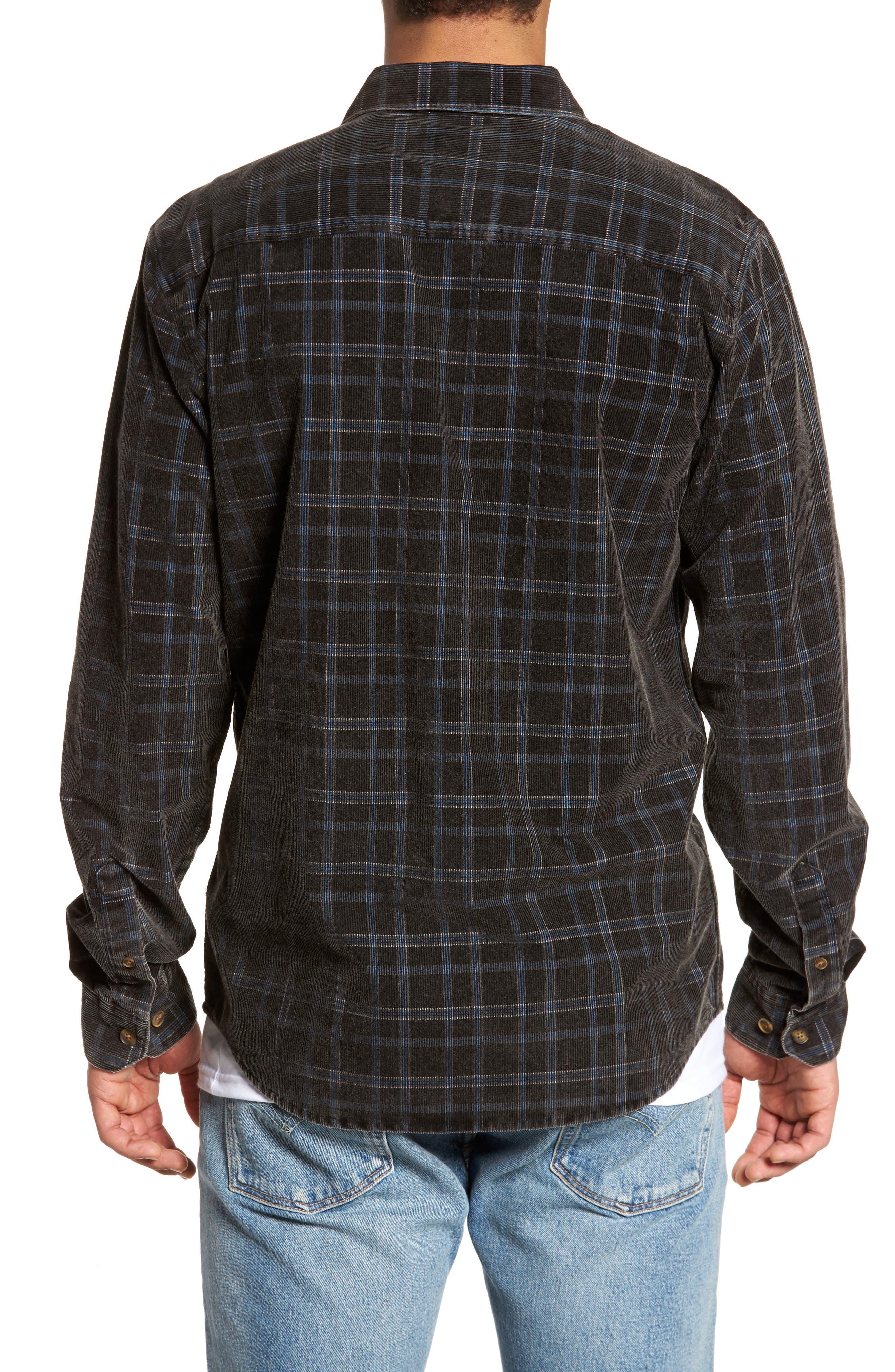 Bradley Corduroy Shirt,                             Alternate thumbnail 2, color,                             001