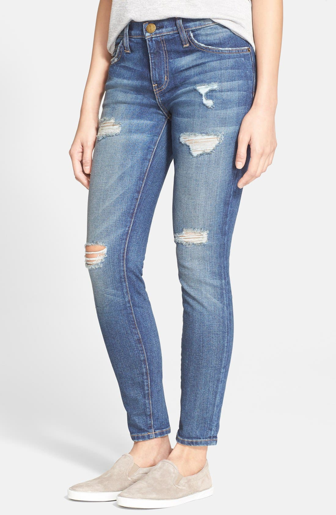 'The Stiletto' Destroyed Skinny Jeans,                             Main thumbnail 4, color,
