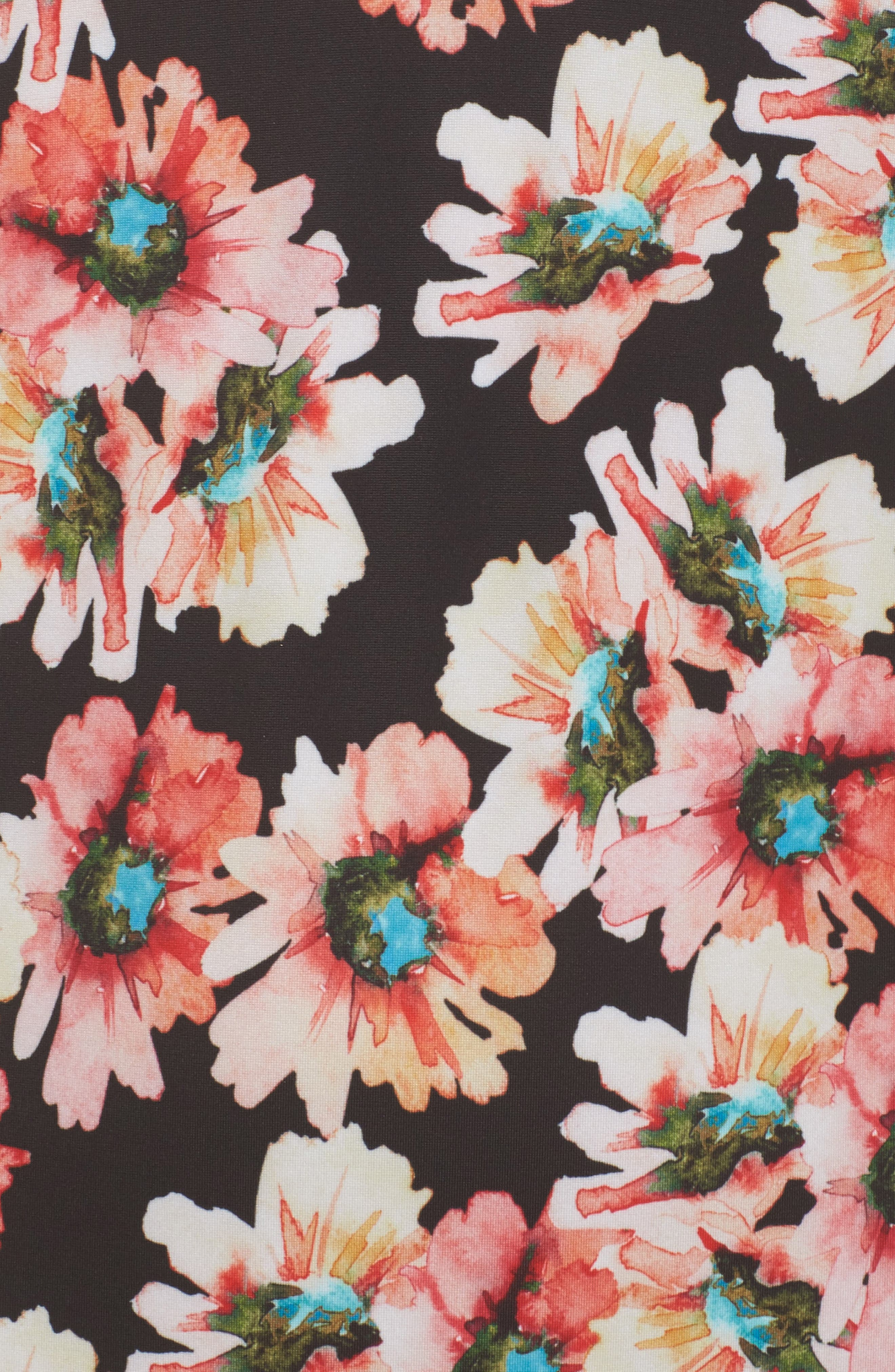 Flower Print One-Piece Swimsuit,                             Alternate thumbnail 5, color,                             958
