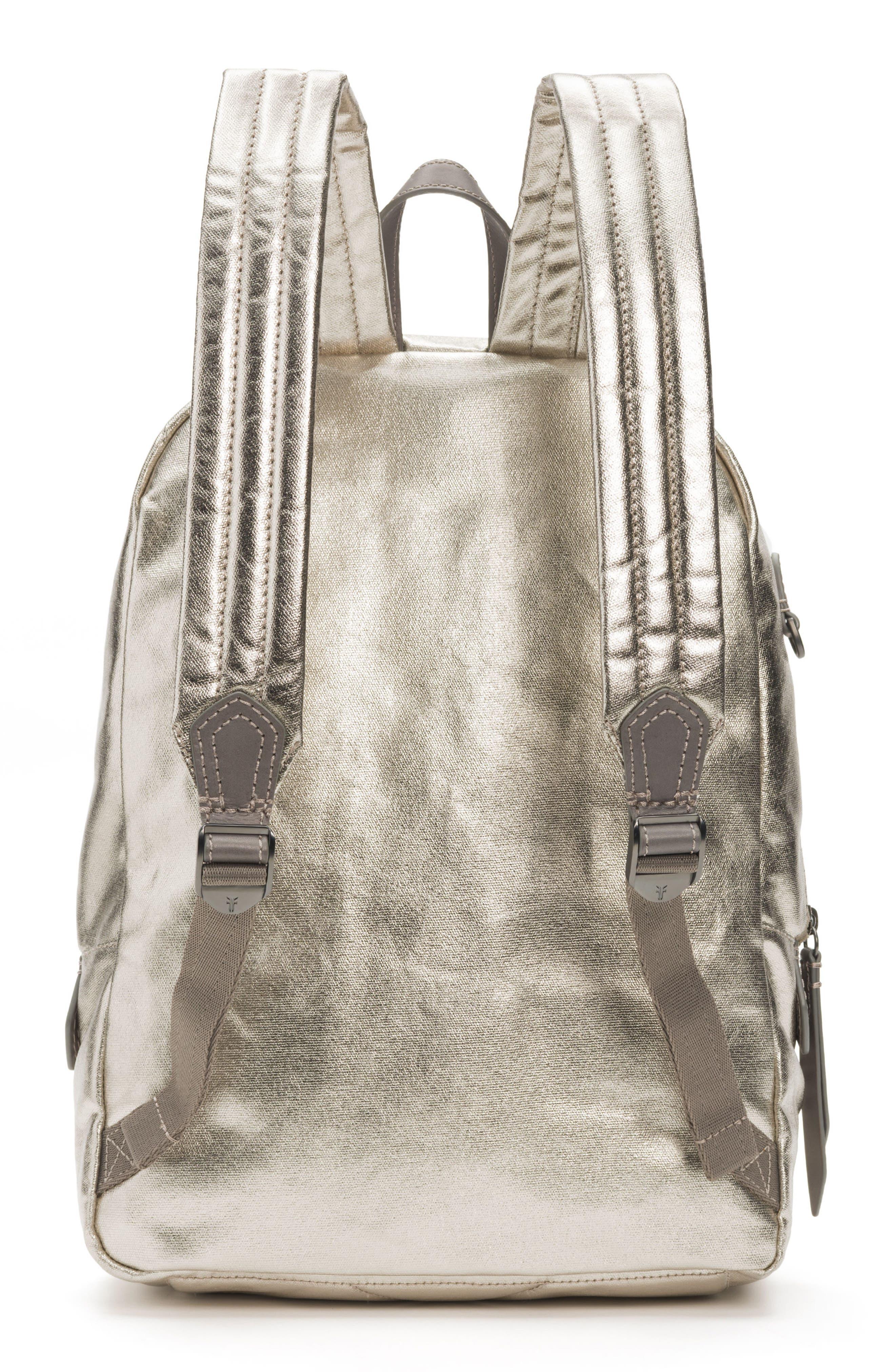 Ivy Metallic Nylon Backpack,                             Alternate thumbnail 3, color,                             020