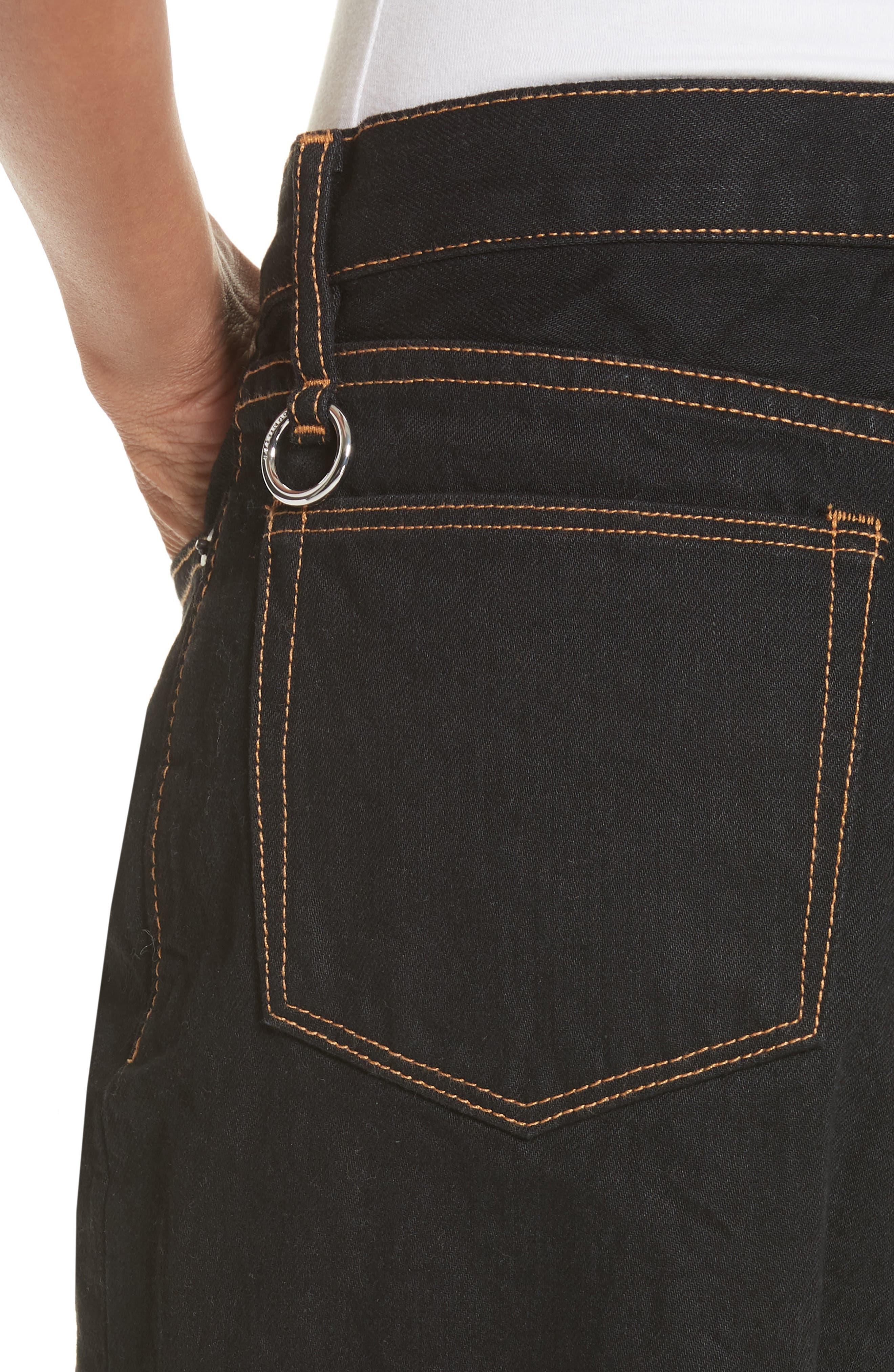 Dever Contrast Stitch Wide Leg Jeans,                             Alternate thumbnail 4, color,