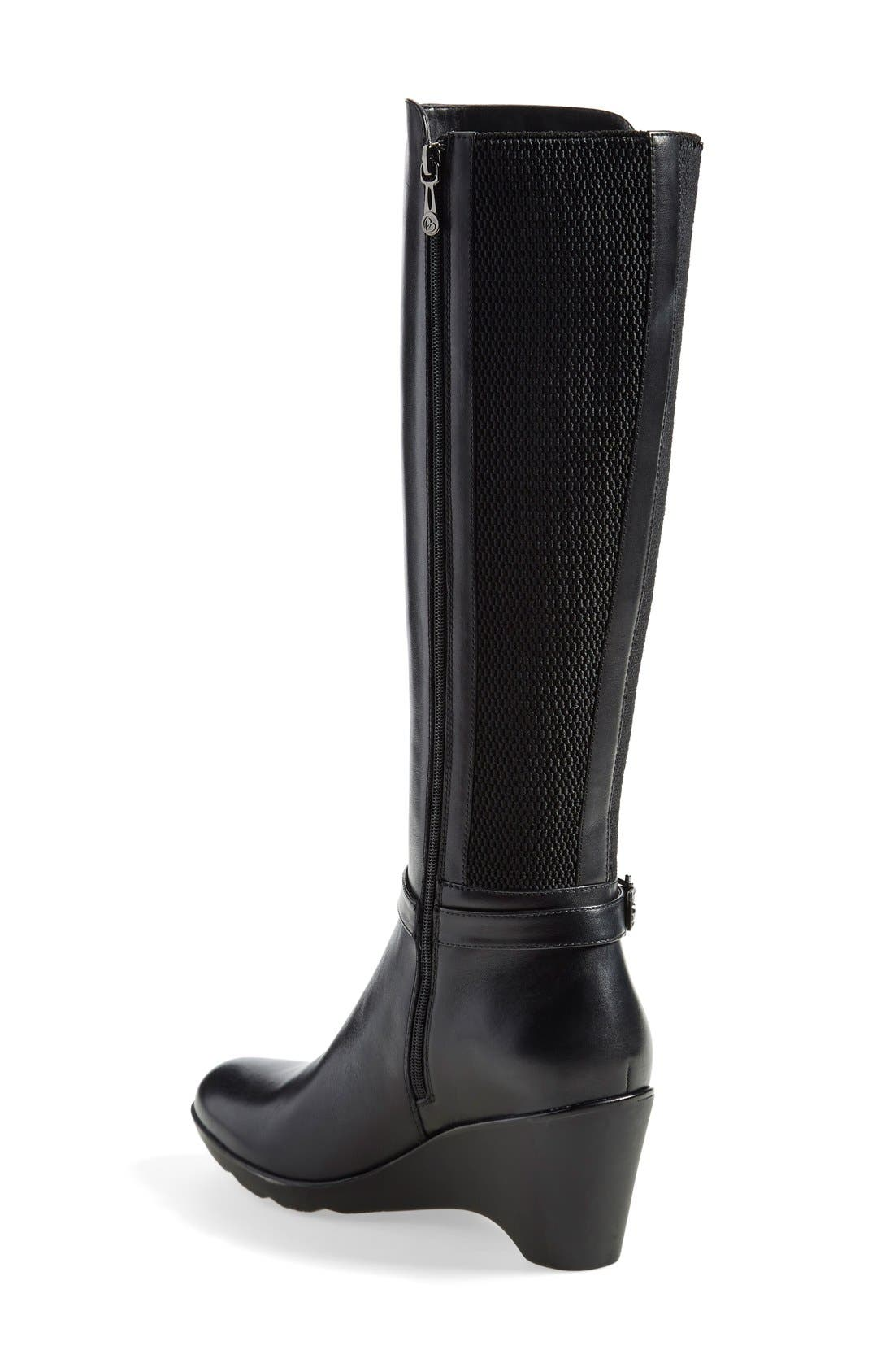 'Laina' Waterproof Boot,                             Alternate thumbnail 2, color,                             001