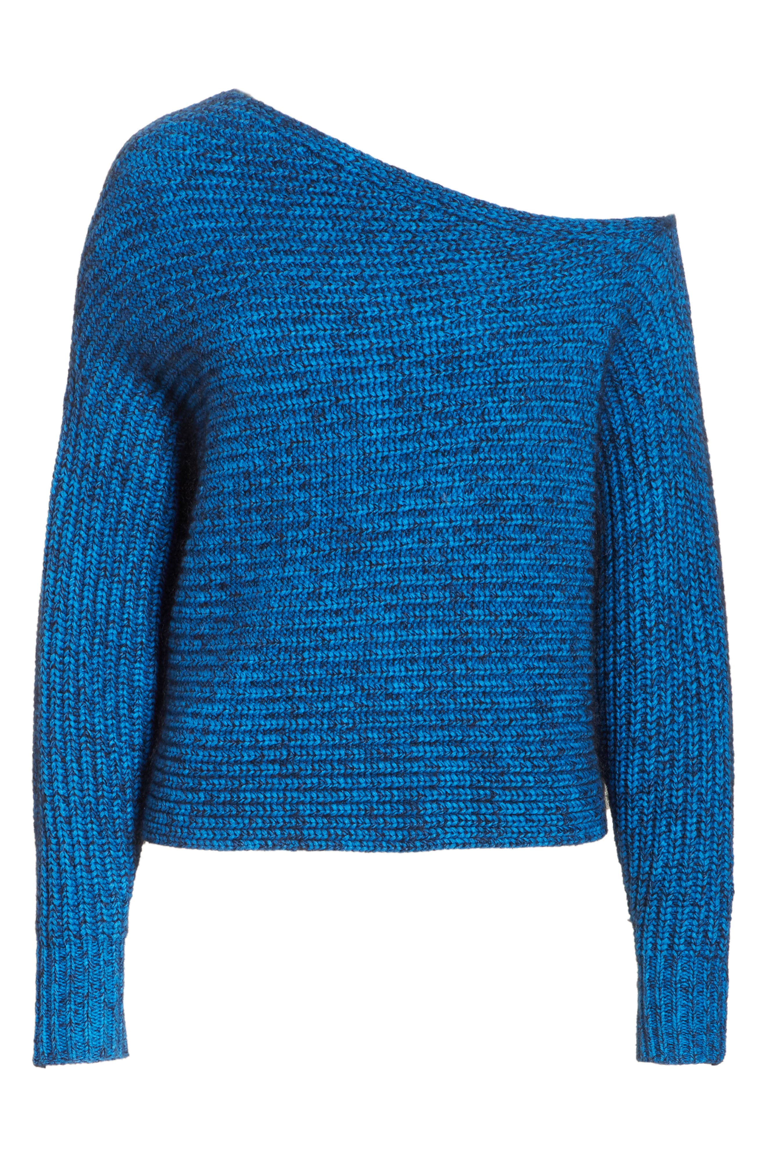 Asymmetrical Knit Sweater,                             Alternate thumbnail 6, color,                             437
