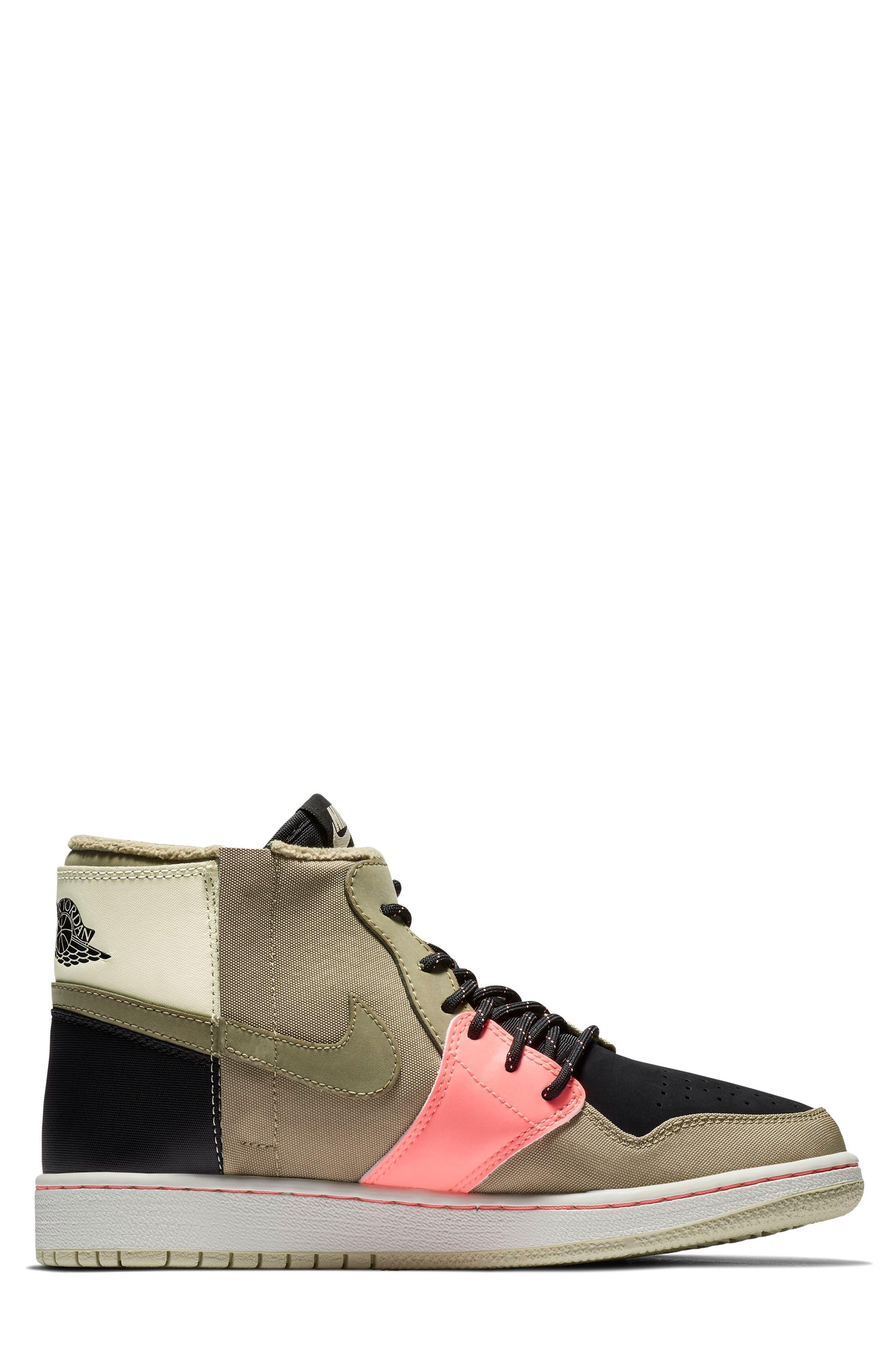 Air Jordan 1 Rebel XX Utility High Top Sneaker,                             Alternate thumbnail 6, color,                             PARACHUTE BEIGE