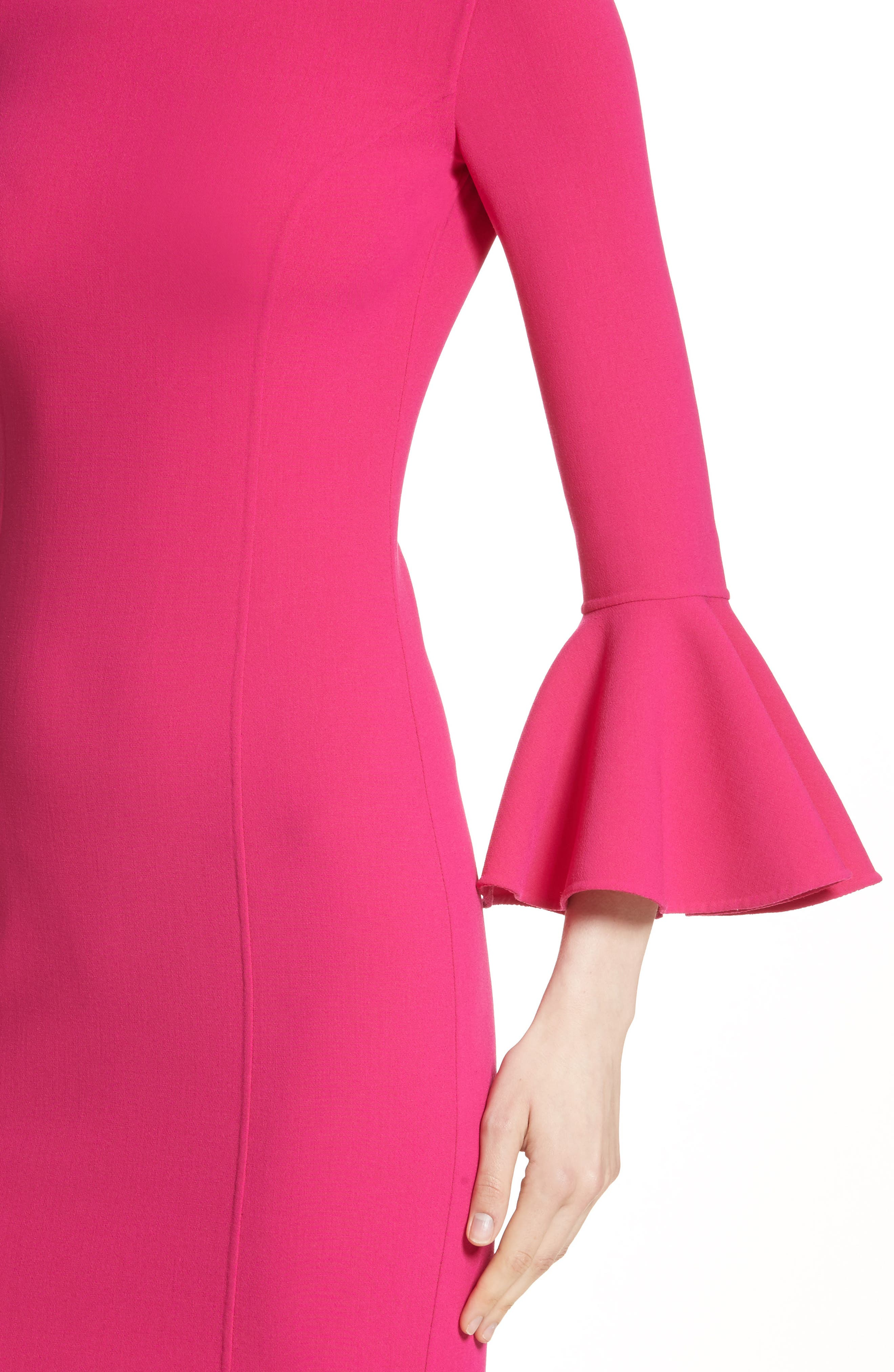 Bell Cuff Sheath Dress,                             Alternate thumbnail 8, color,