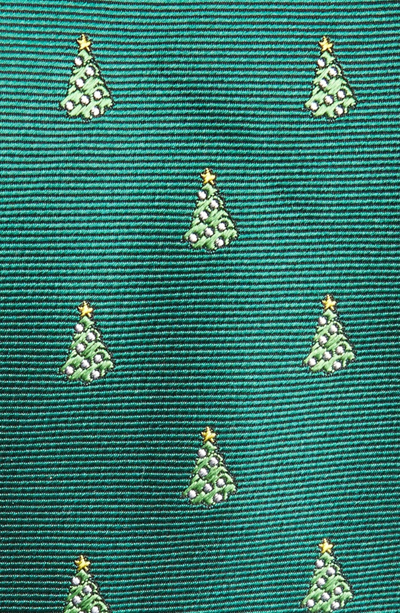 O Christmas Tree Silk Skinny Tie,                             Alternate thumbnail 2, color,                             308