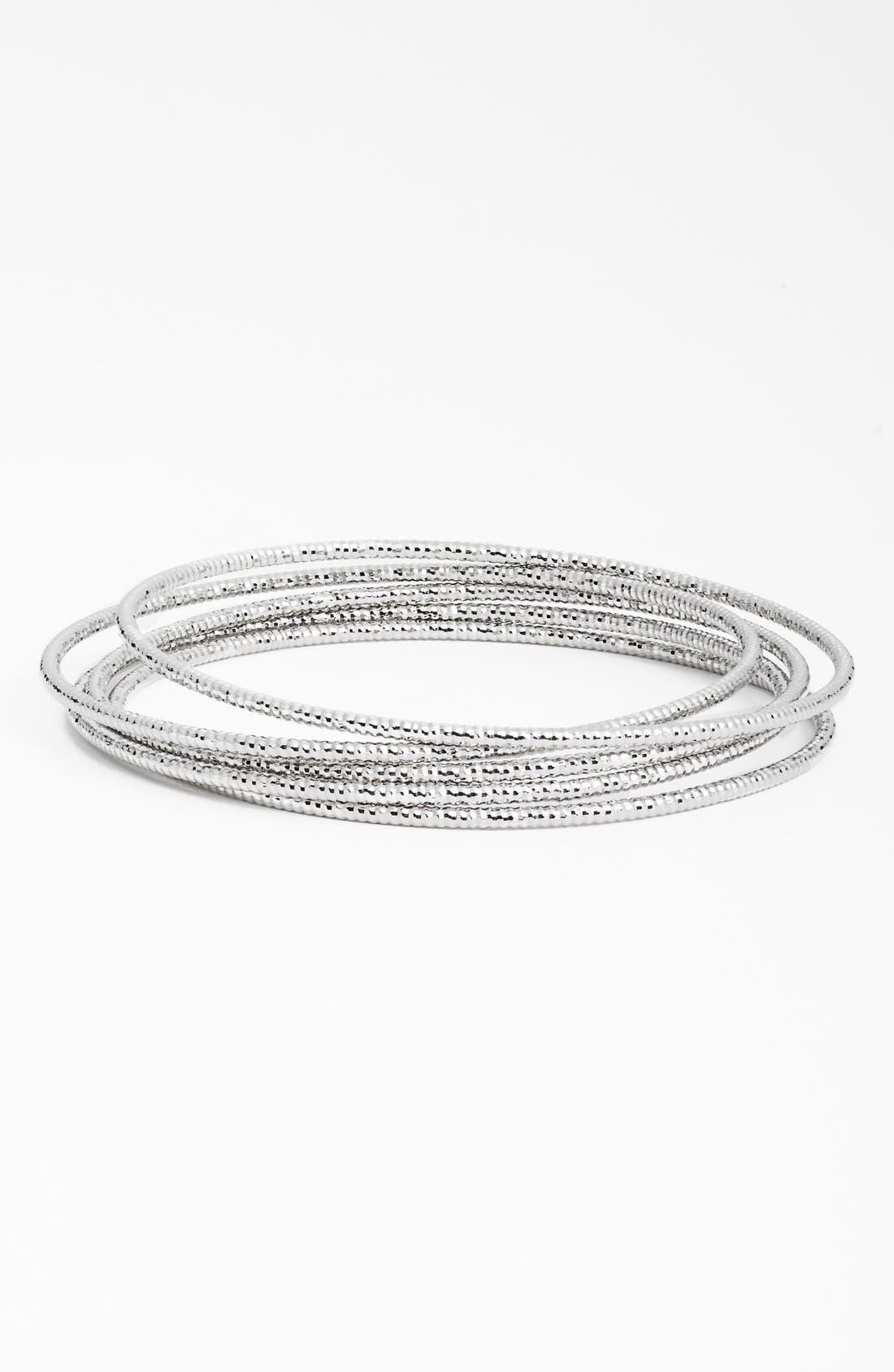 NORDSTROM Textured Bangles, Main, color, 040