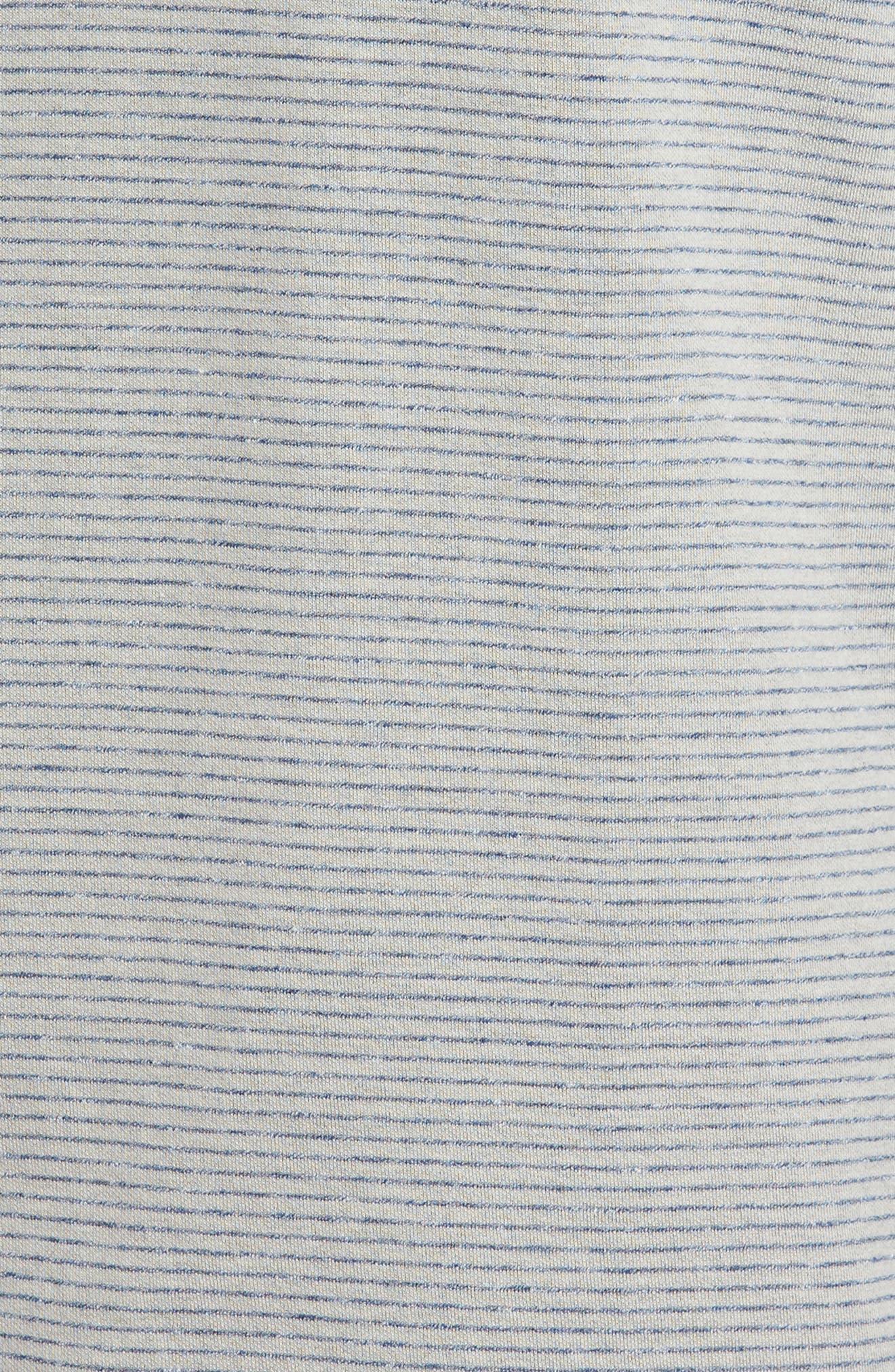 Classic Fit Pinstripe Quarter Zip Pullover,                             Alternate thumbnail 10, color,