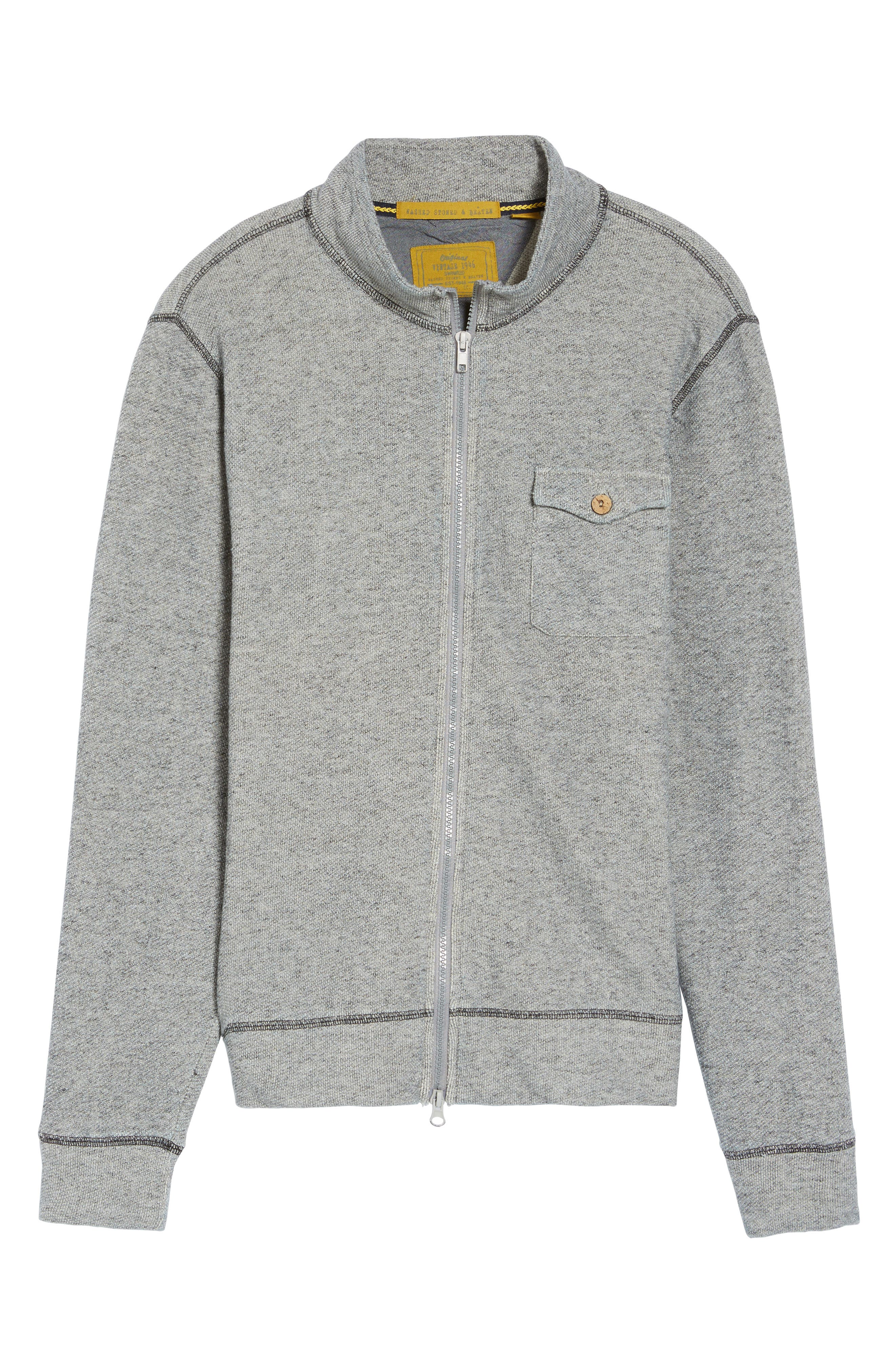 French Terry Zip Cardigan,                             Alternate thumbnail 6, color,                             020