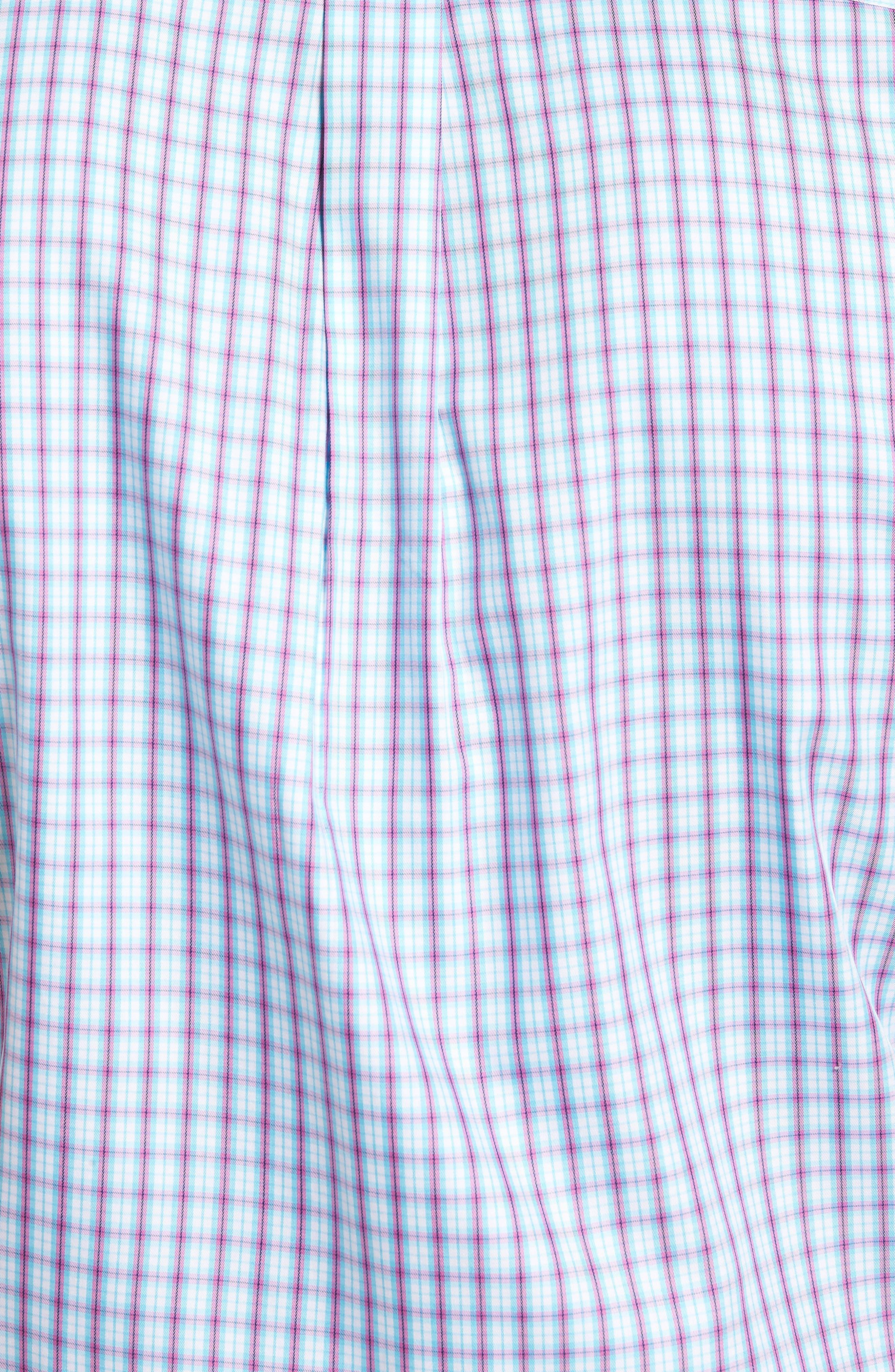 Crown Soft Carlsplaid Regular Fit Sport Shirt,                             Alternate thumbnail 5, color,                             URCHIN