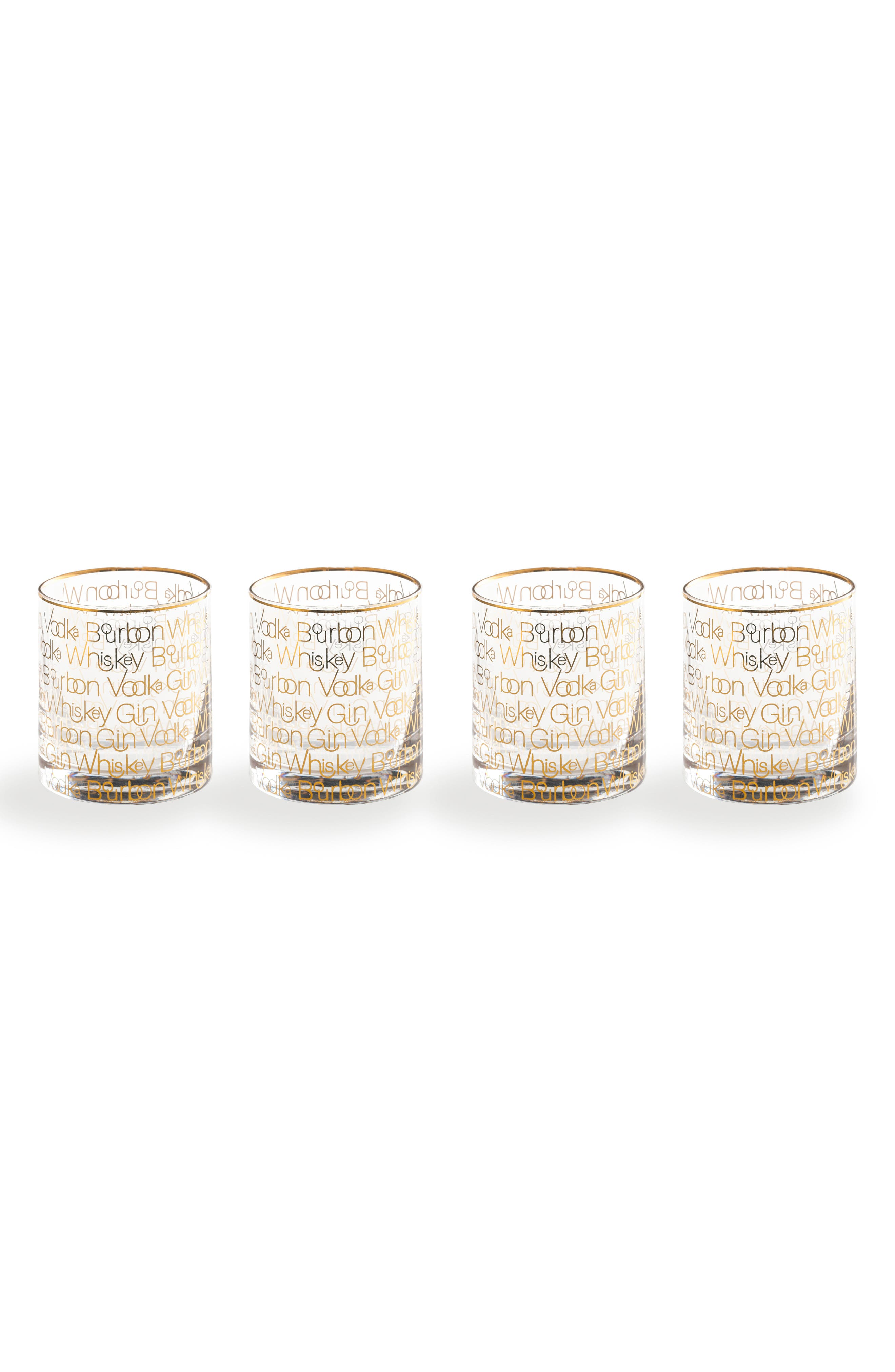 Cheers Set of 4 Double Old Fashioned Glasses,                             Main thumbnail 1, color,                             100