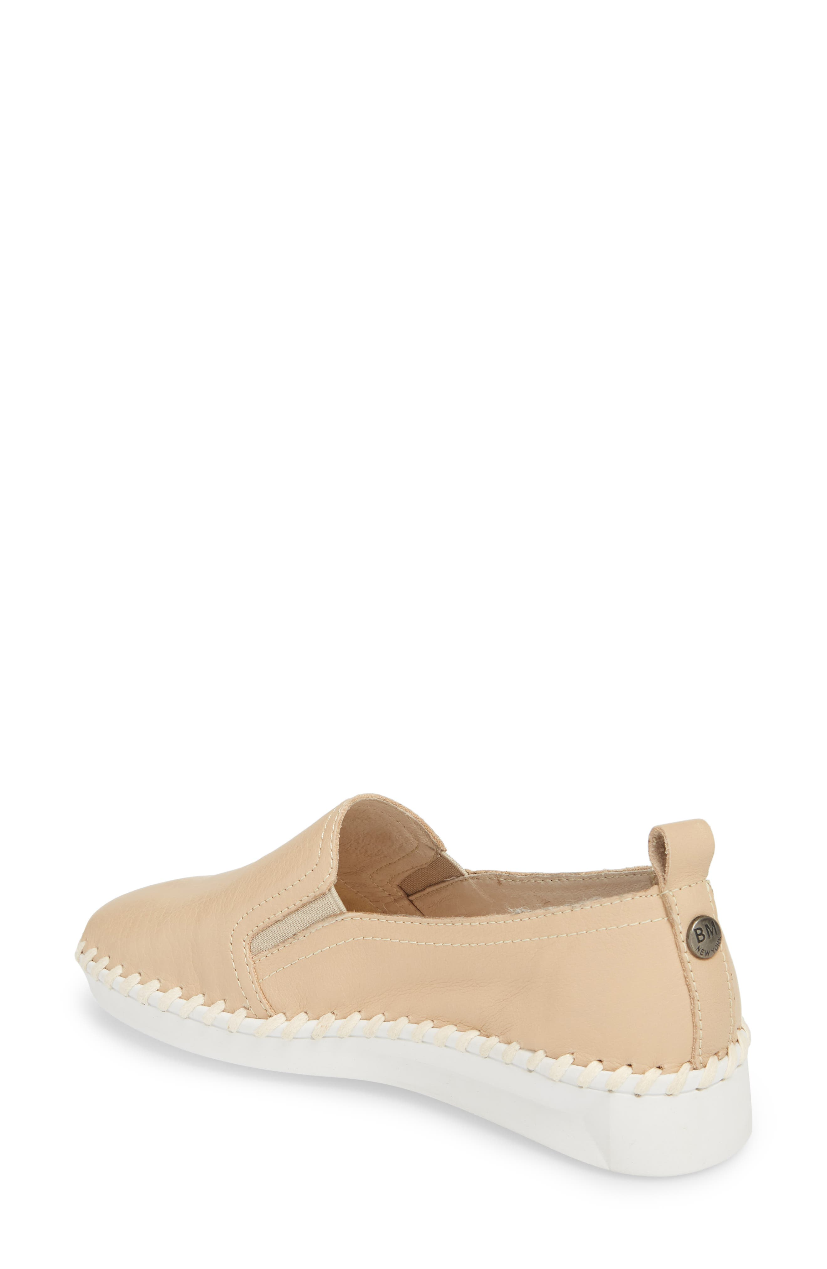 TW85 Slip-On Sneaker,                             Alternate thumbnail 2, color,                             NUDE LEATHER
