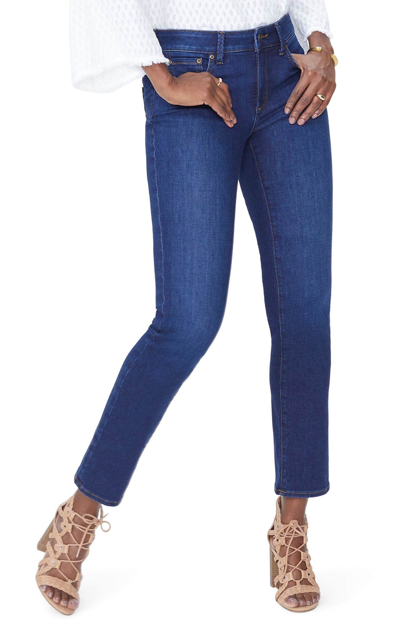 Sheri High Waist Slim Jeans,                             Main thumbnail 1, color,                             COOPER