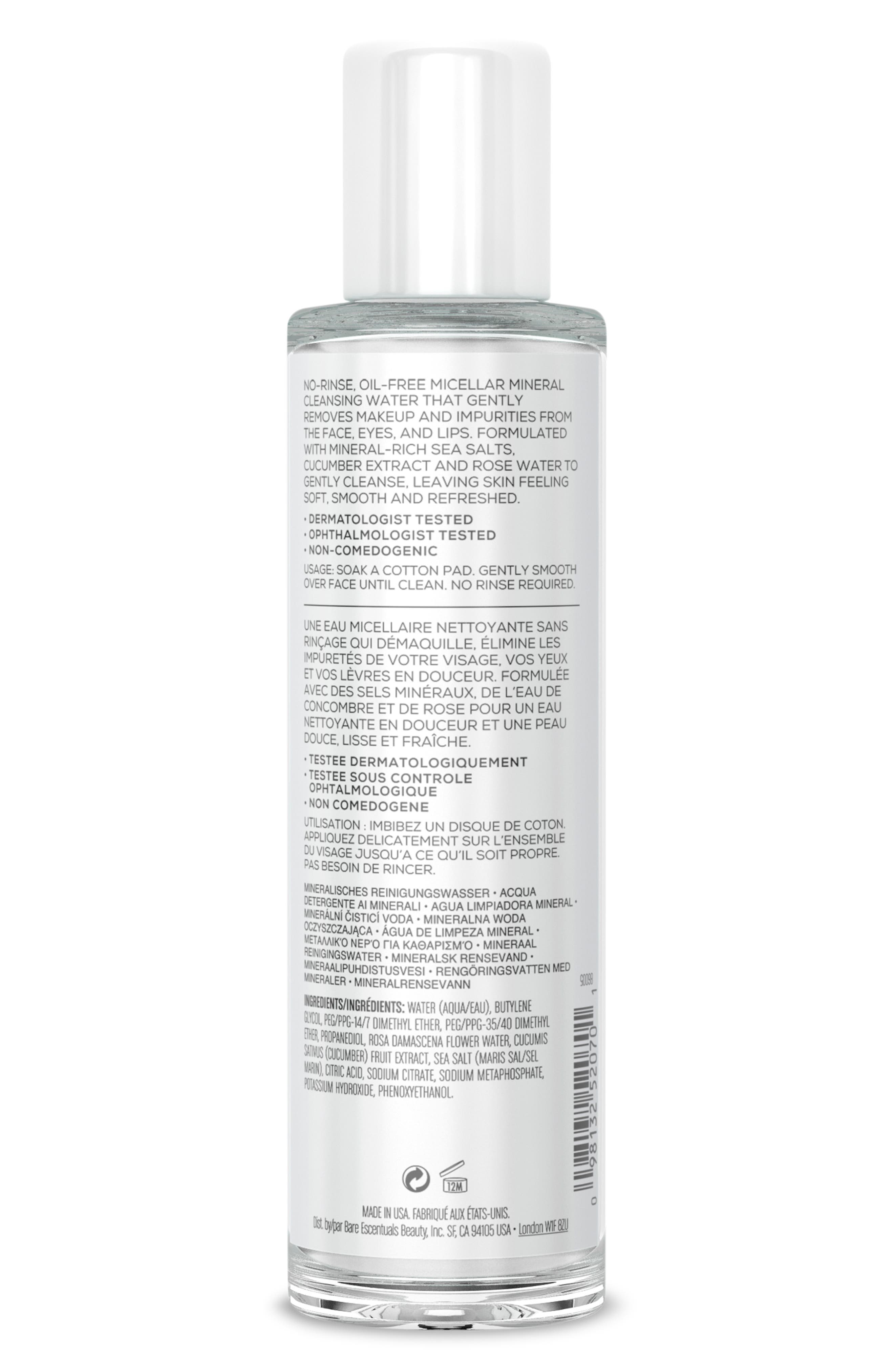 BAREMINERALS<SUP>®</SUP>,                             Mineral Cleansing Water,                             Alternate thumbnail 2, color,                             NO COLOR