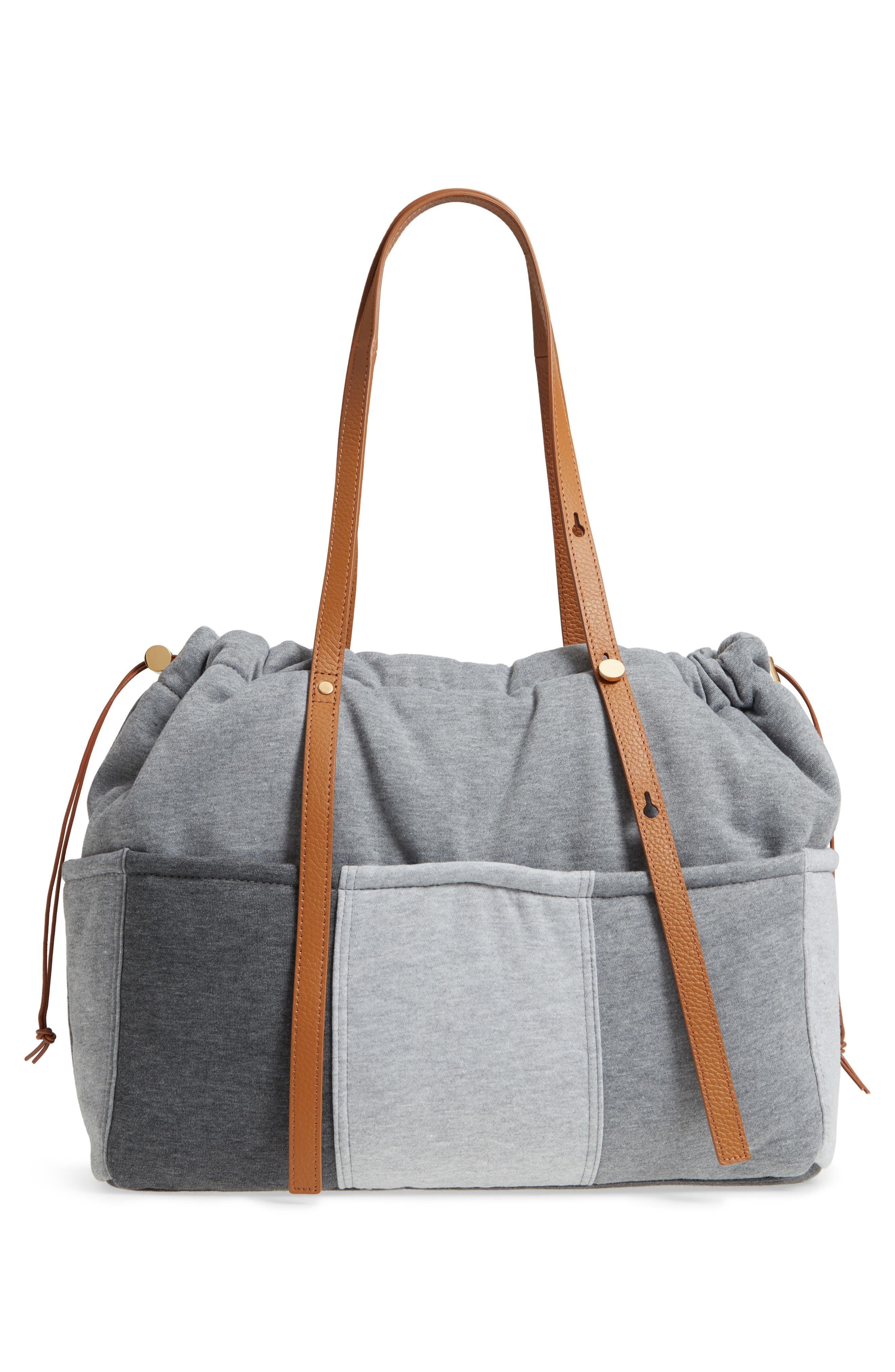 Jersey Diaper Bag,                             Alternate thumbnail 3, color,                             GREY