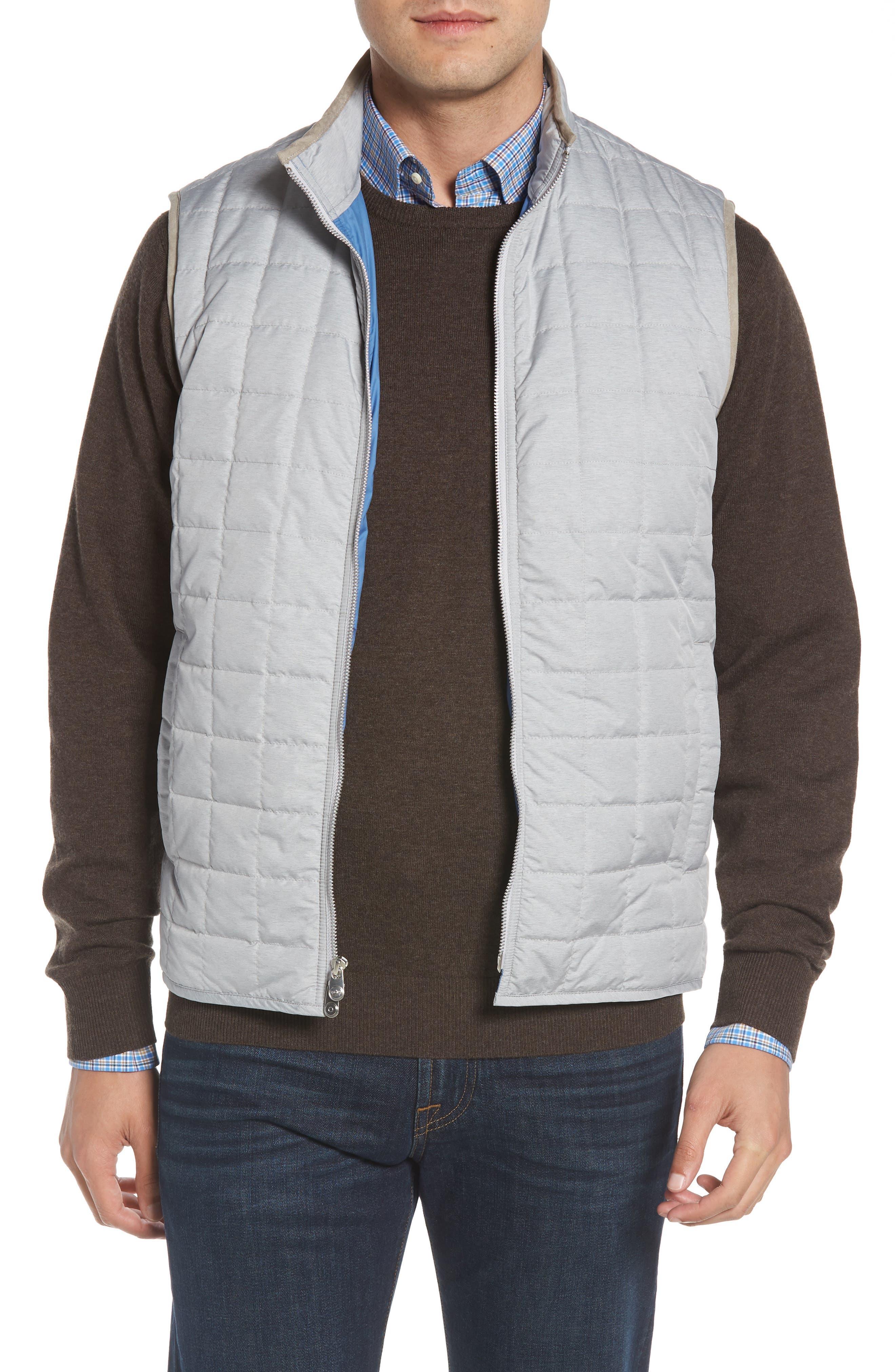 Seneca Quilted Vest,                         Main,                         color, BRITISH GREY