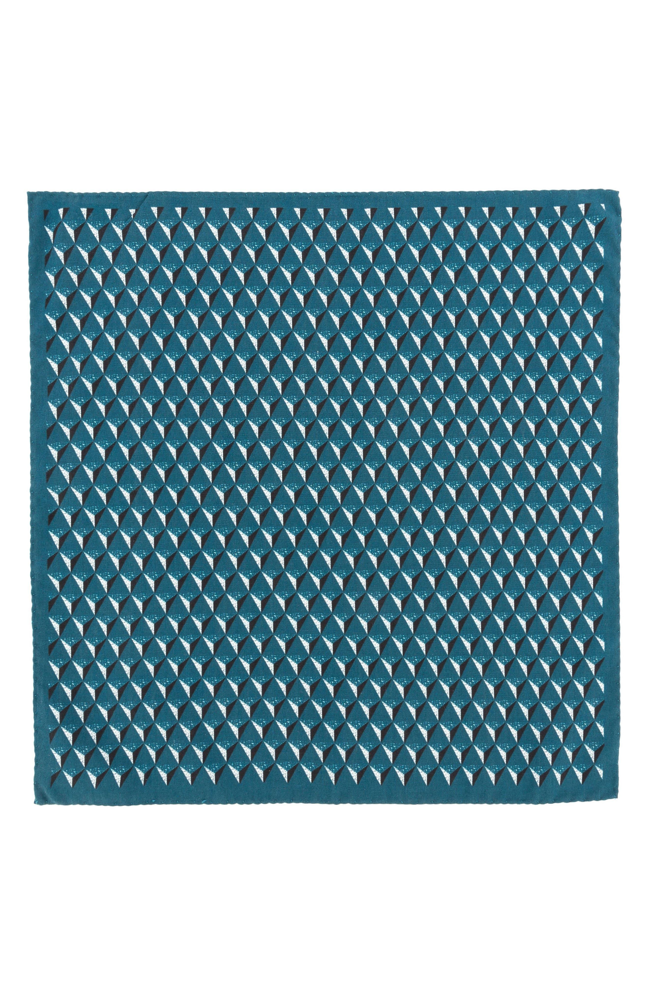 Geometric Silk Pocket Square,                             Alternate thumbnail 10, color,